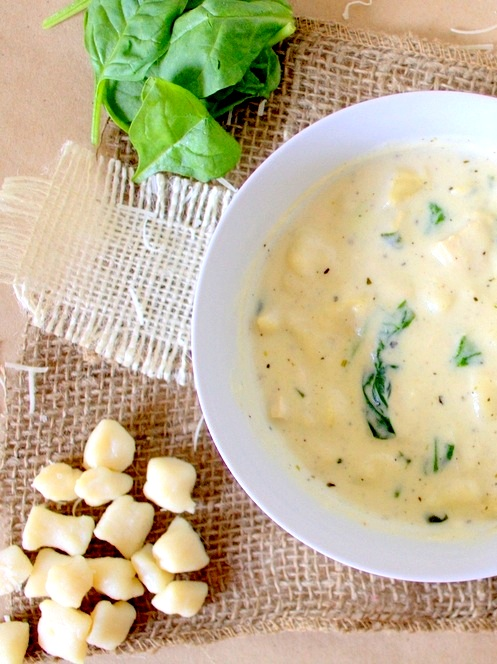 Creamy Gnocchi and Chicken Soup