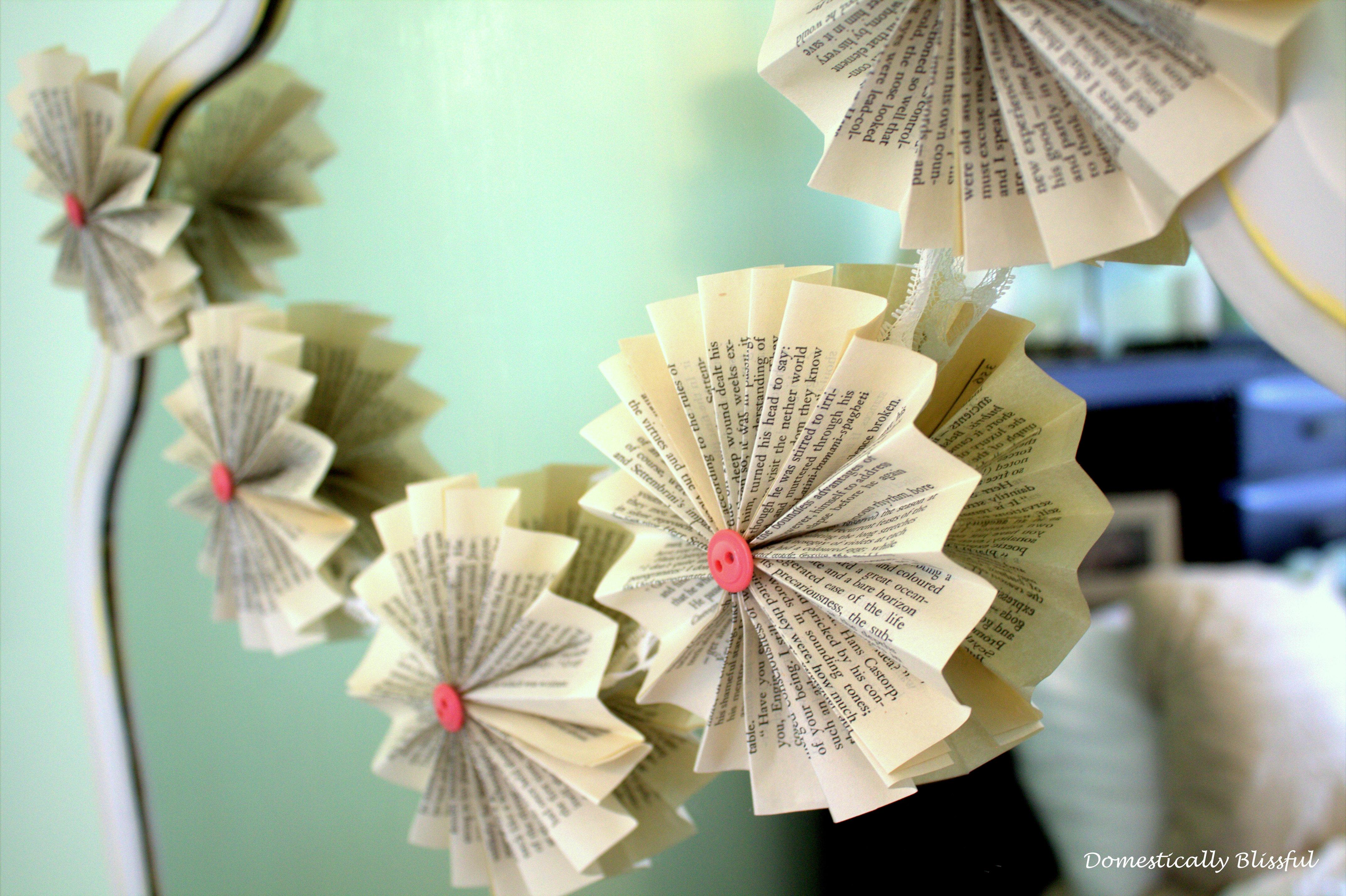 Paper Fan Garland