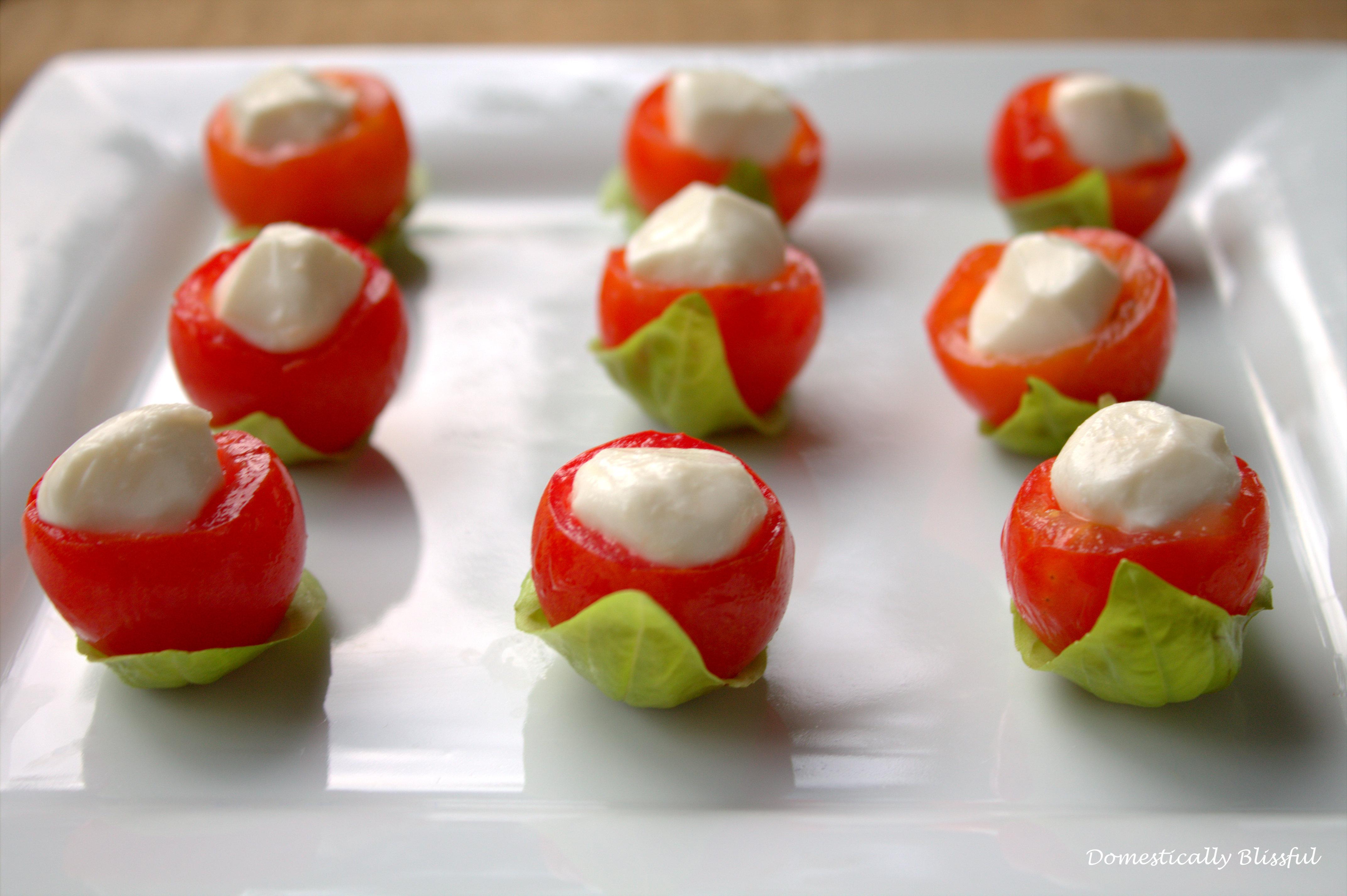 Cherry Tomato Caprese Bites