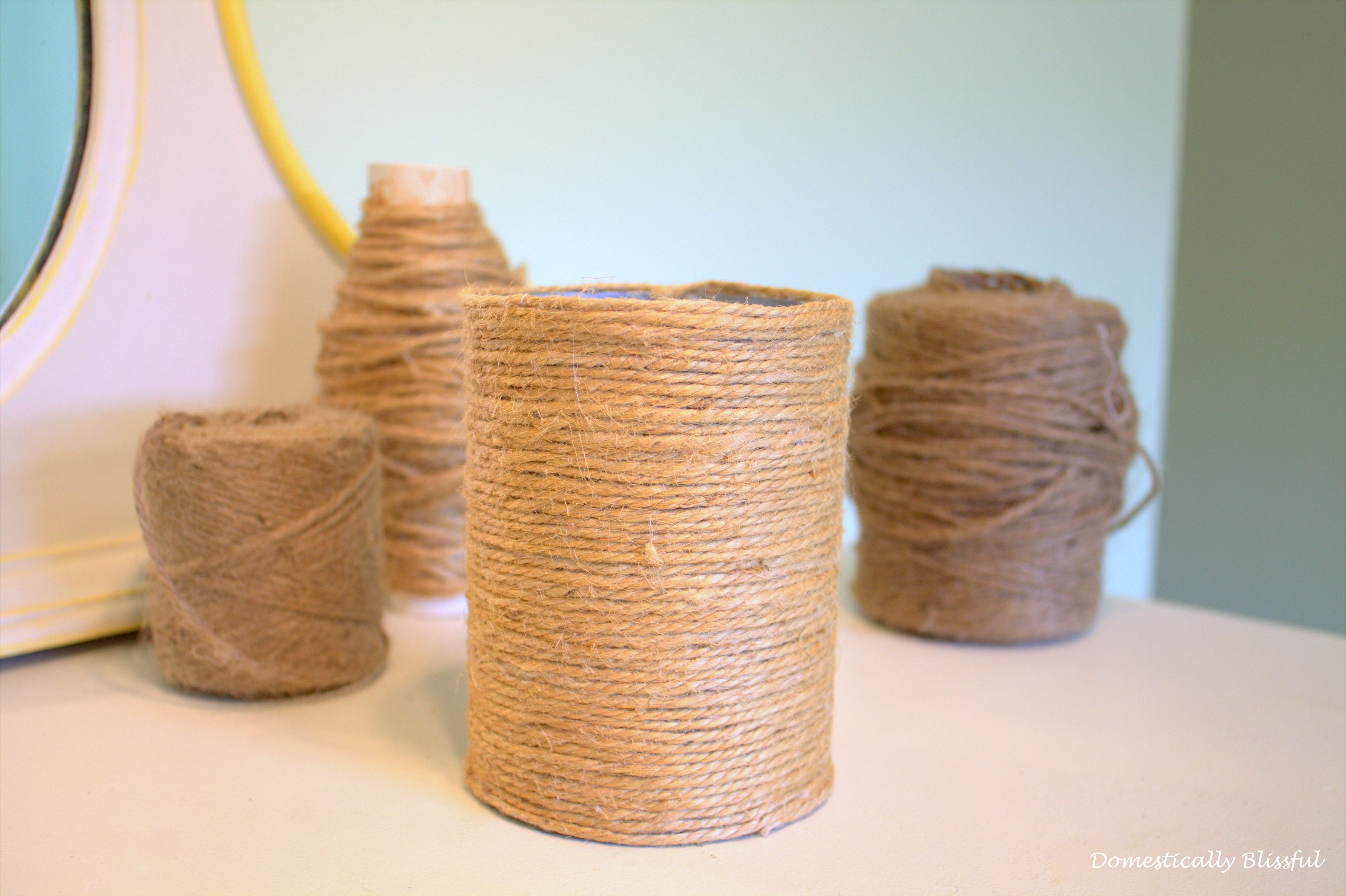 twine wrapped tin can finished