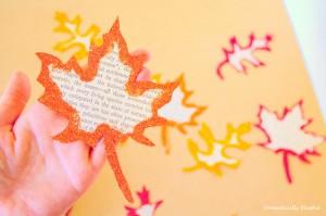Fall Glitter Leaf