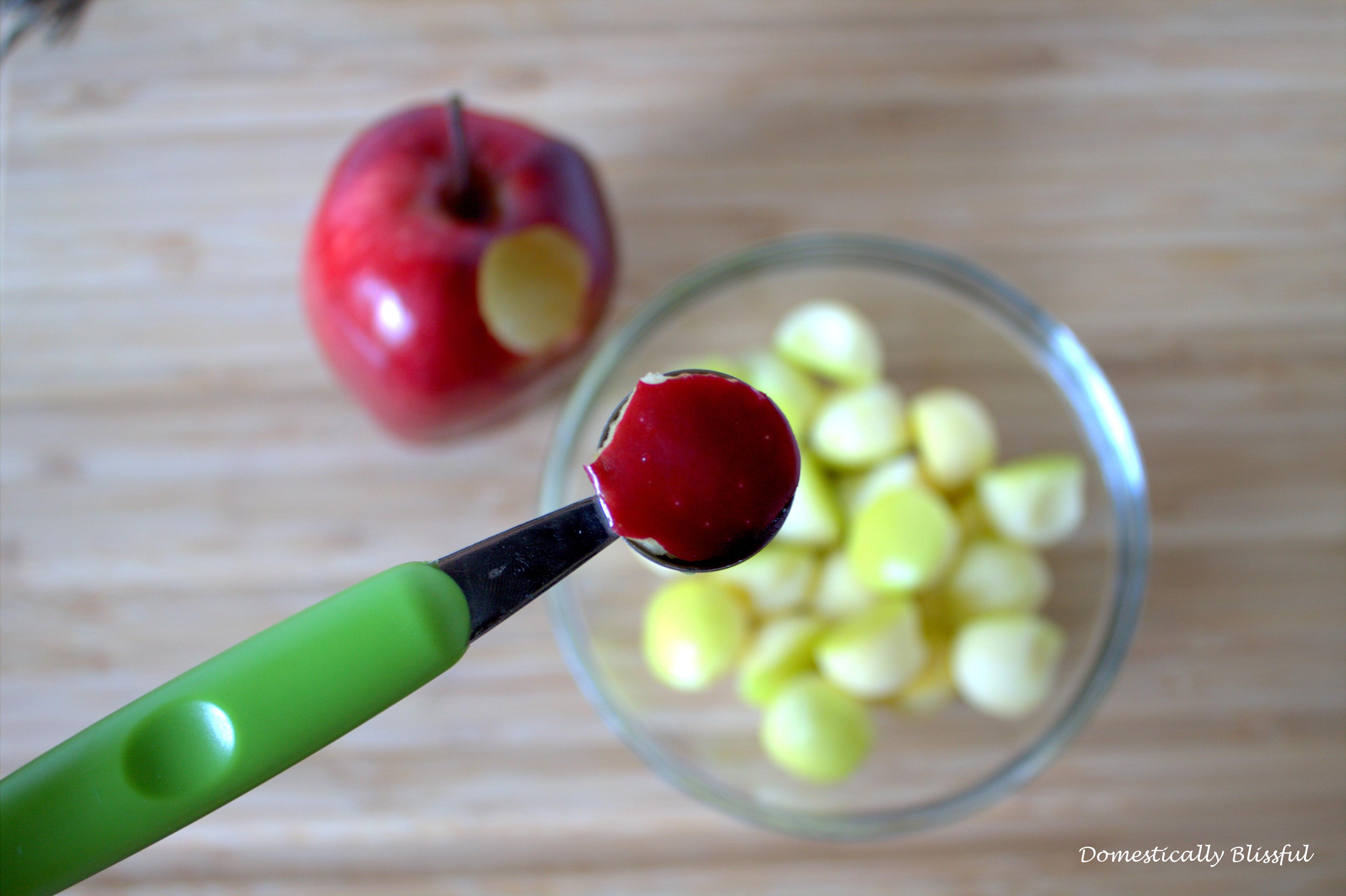 Melon Baller for Mini Caramel Apples