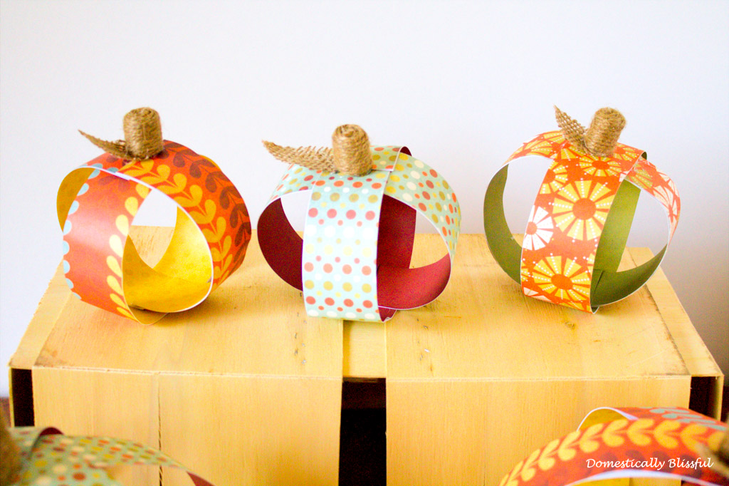 Mini Paper Pumpkin_