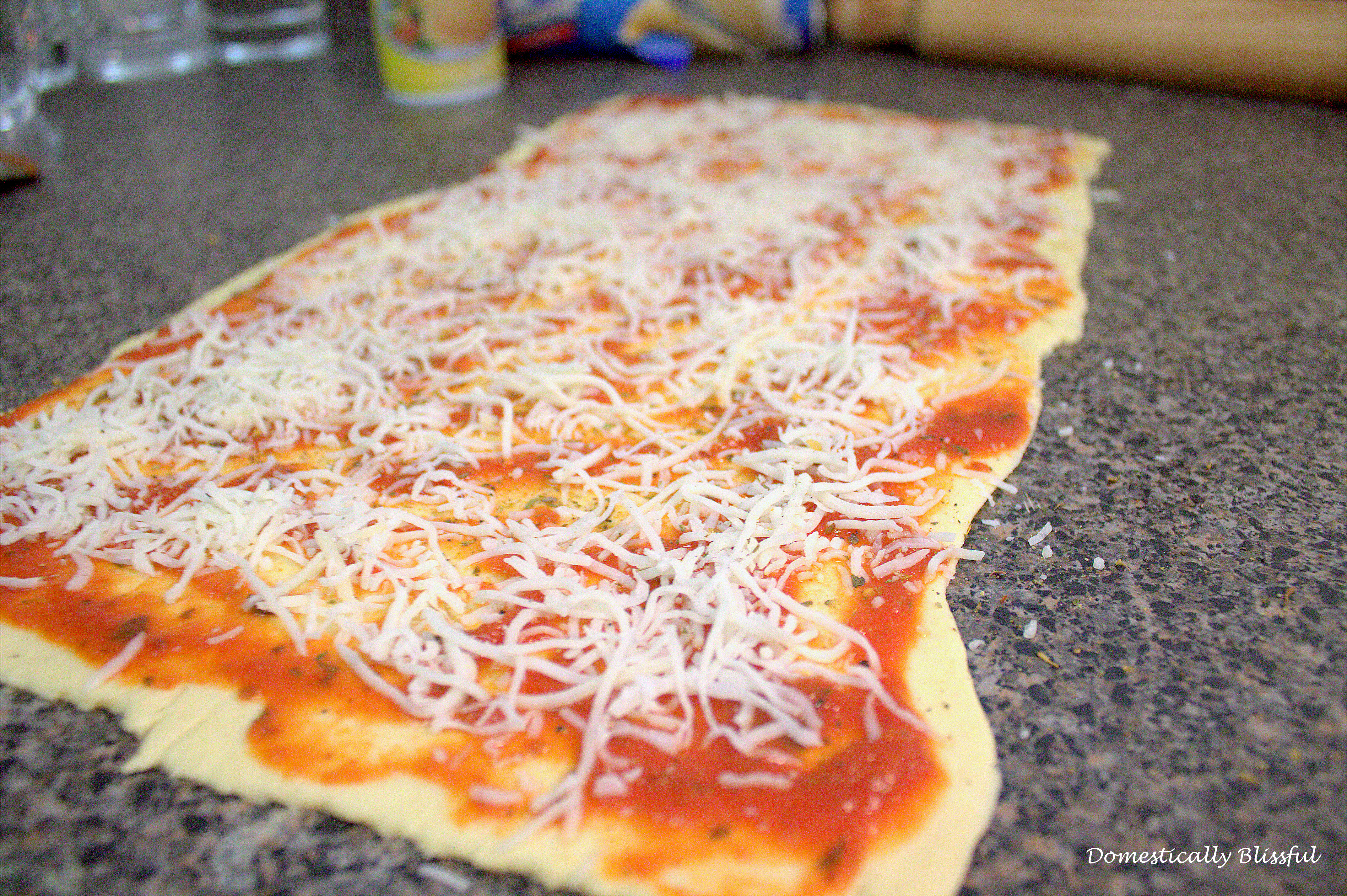 Pizza Pinwheels with seasonings