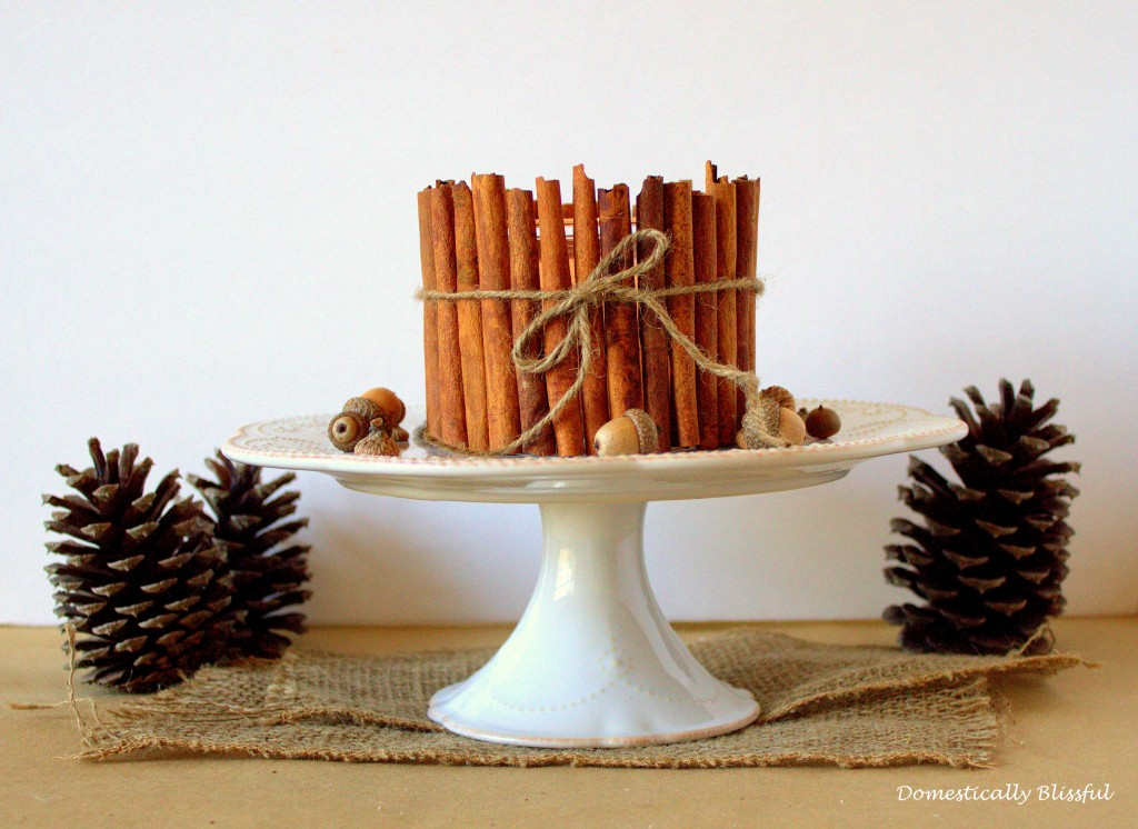Cinnamon Stick Candle Holder