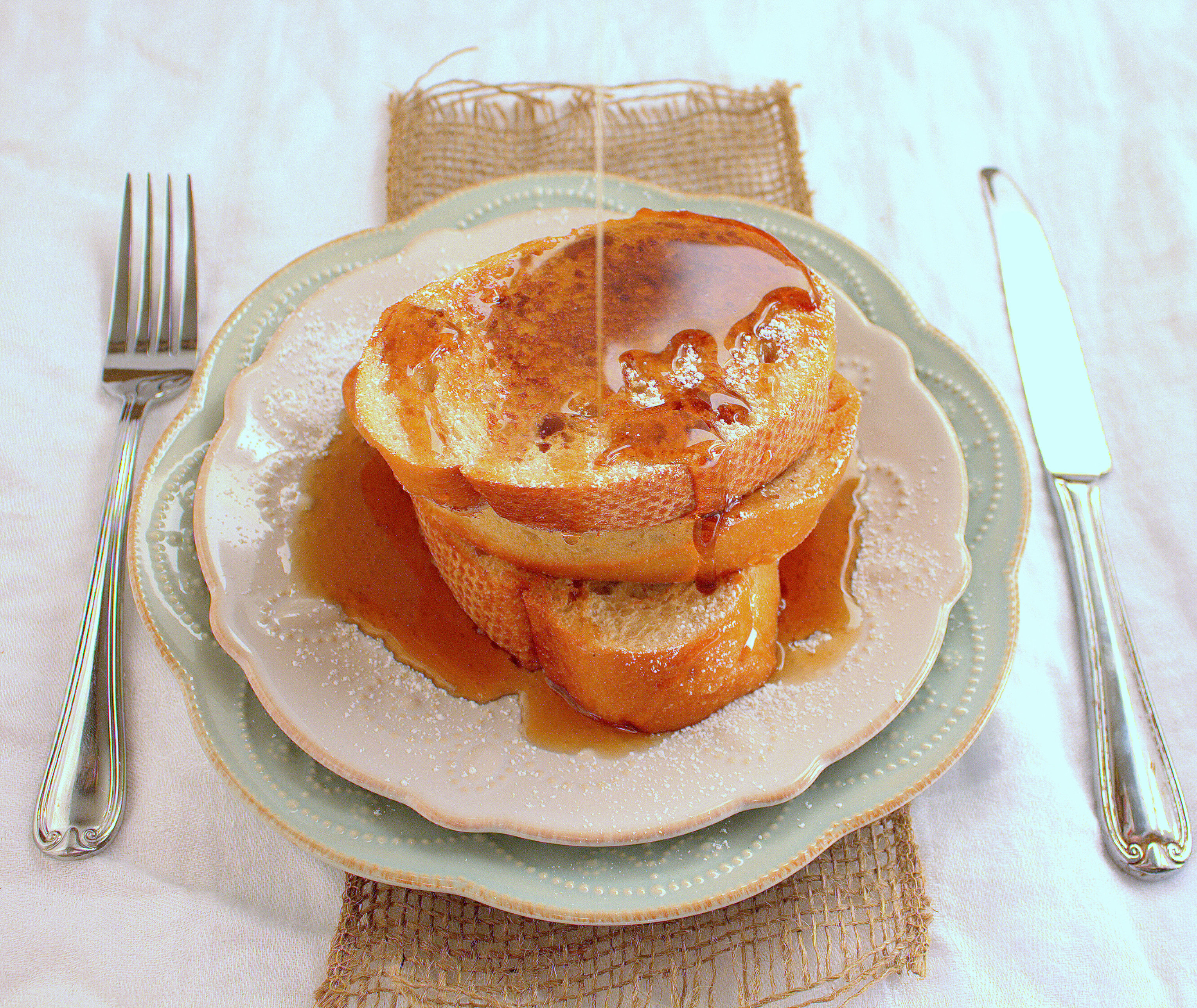 Delicious French Toast with lots of syrup