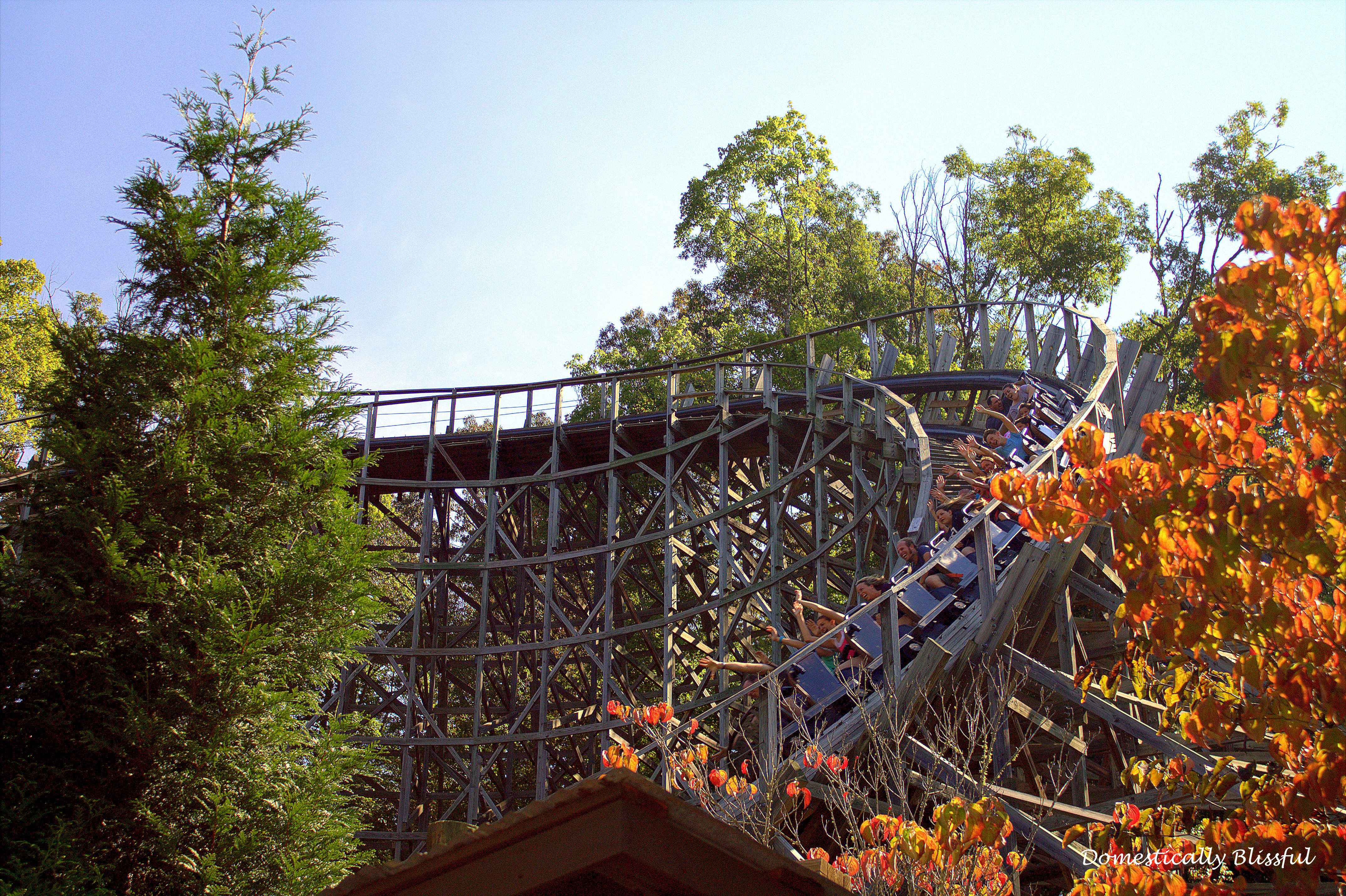 Dollywoods Wooden Rollercoaster