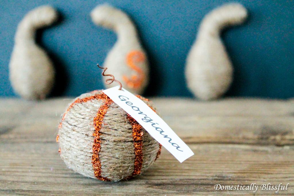 Glitter Twine Gourds