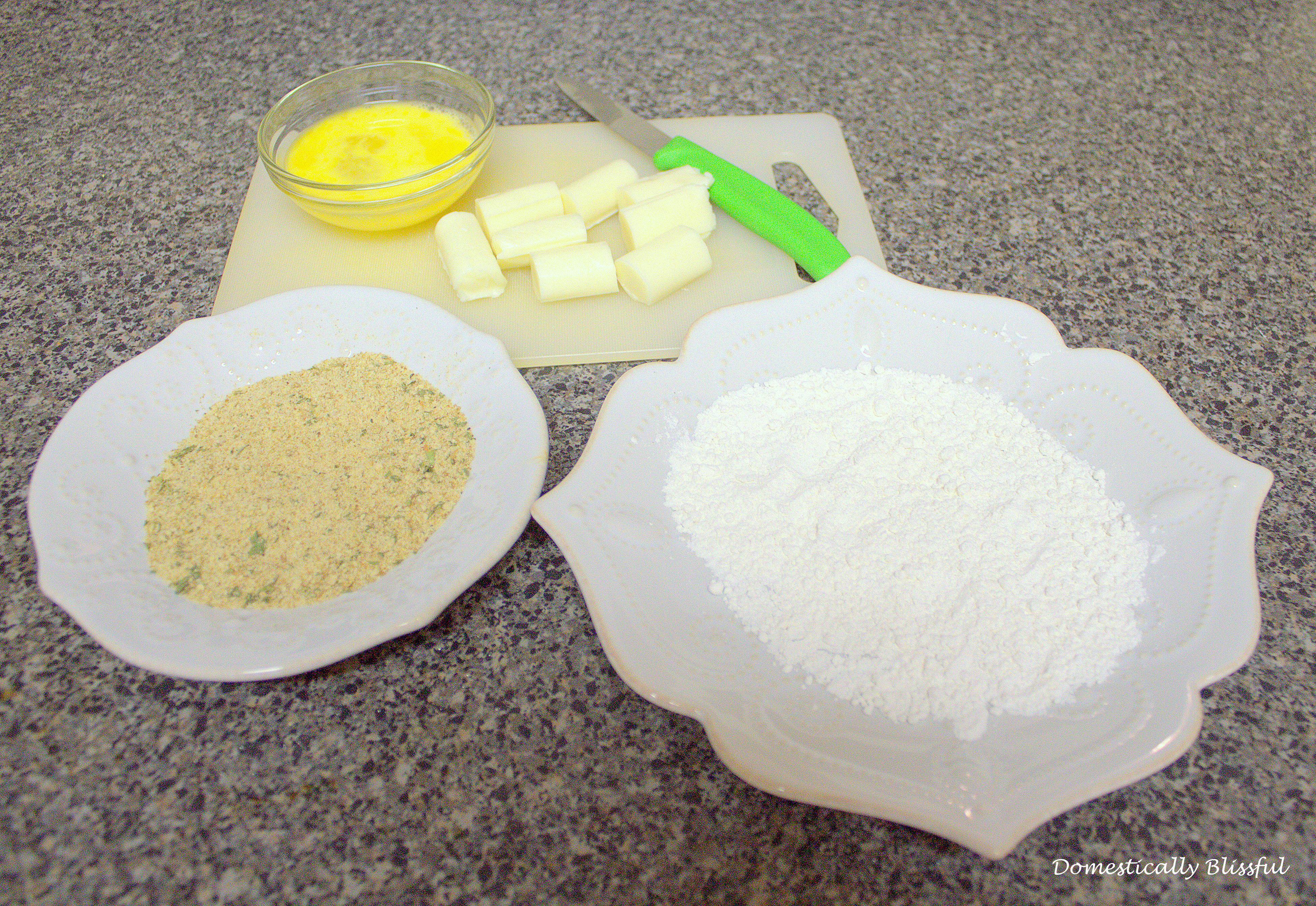 Ingredients needed for Mozzarella Bites