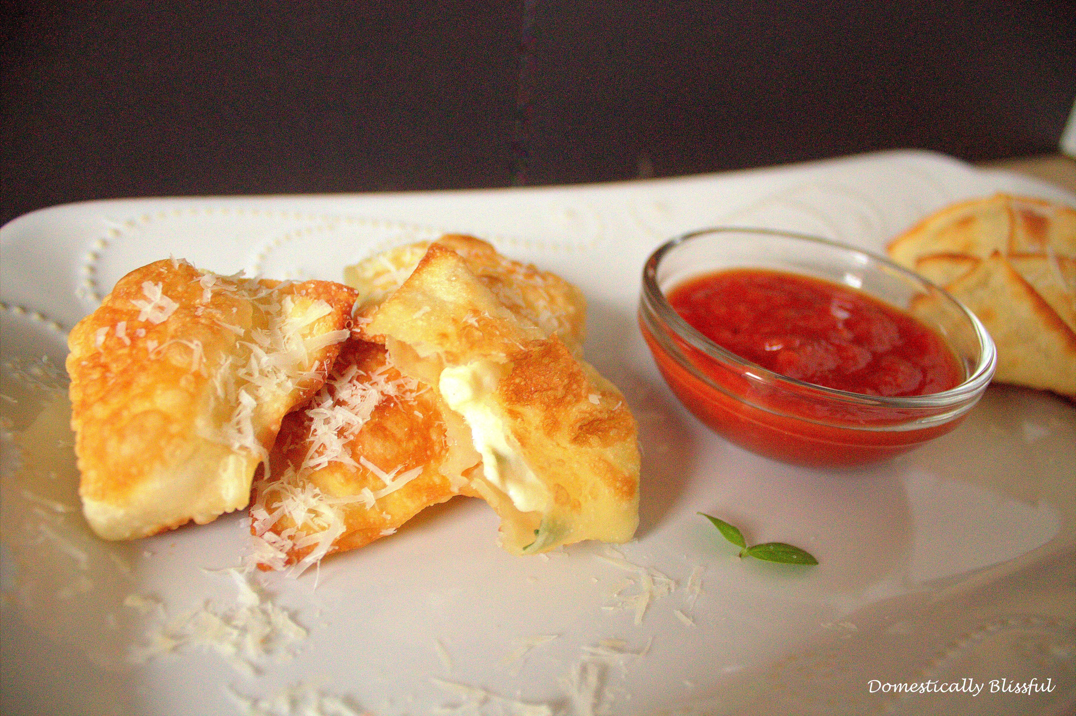 Mozzarella and Basil Bites