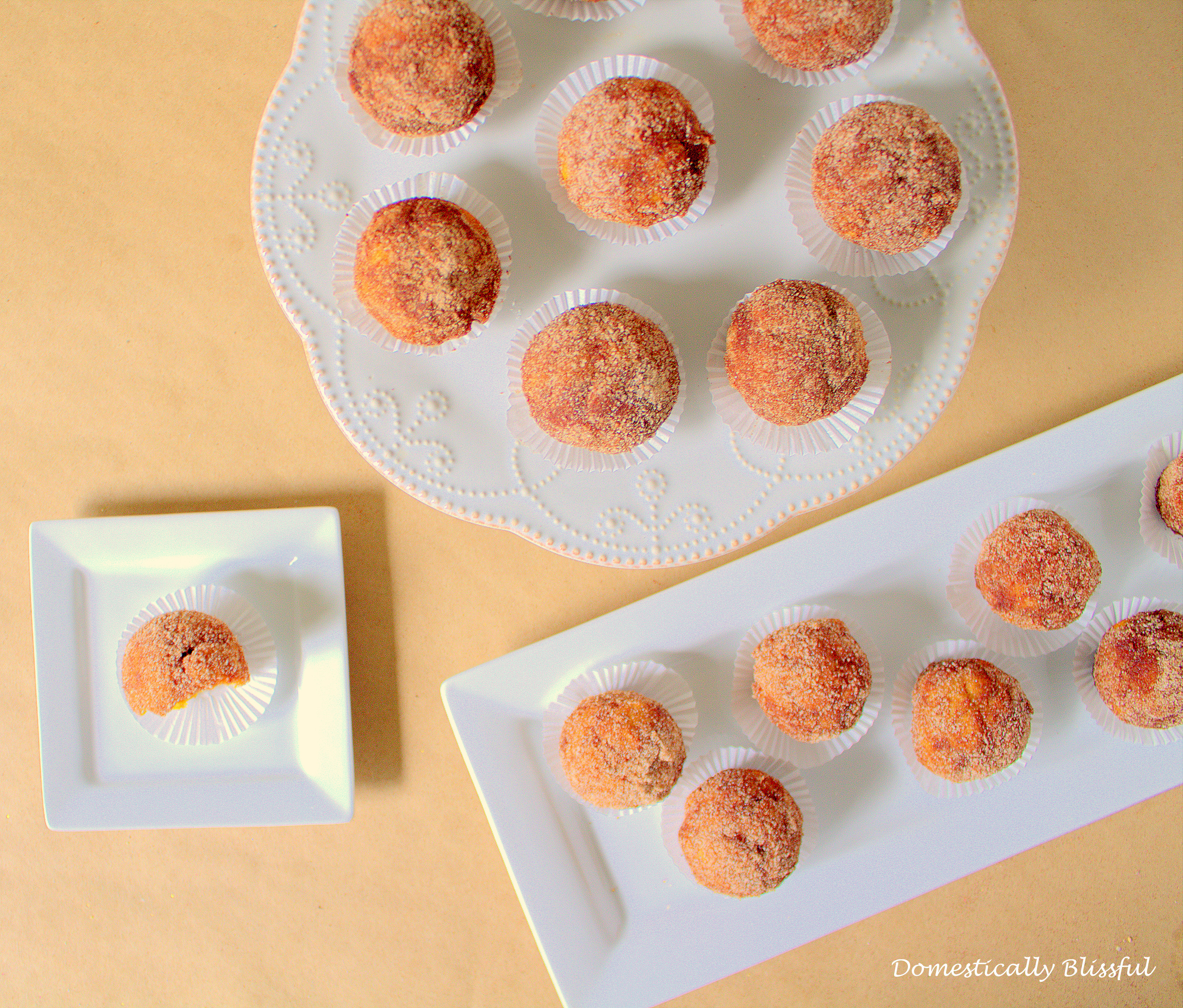 Pumpkin Spice Donut Holes using a cake pop maker