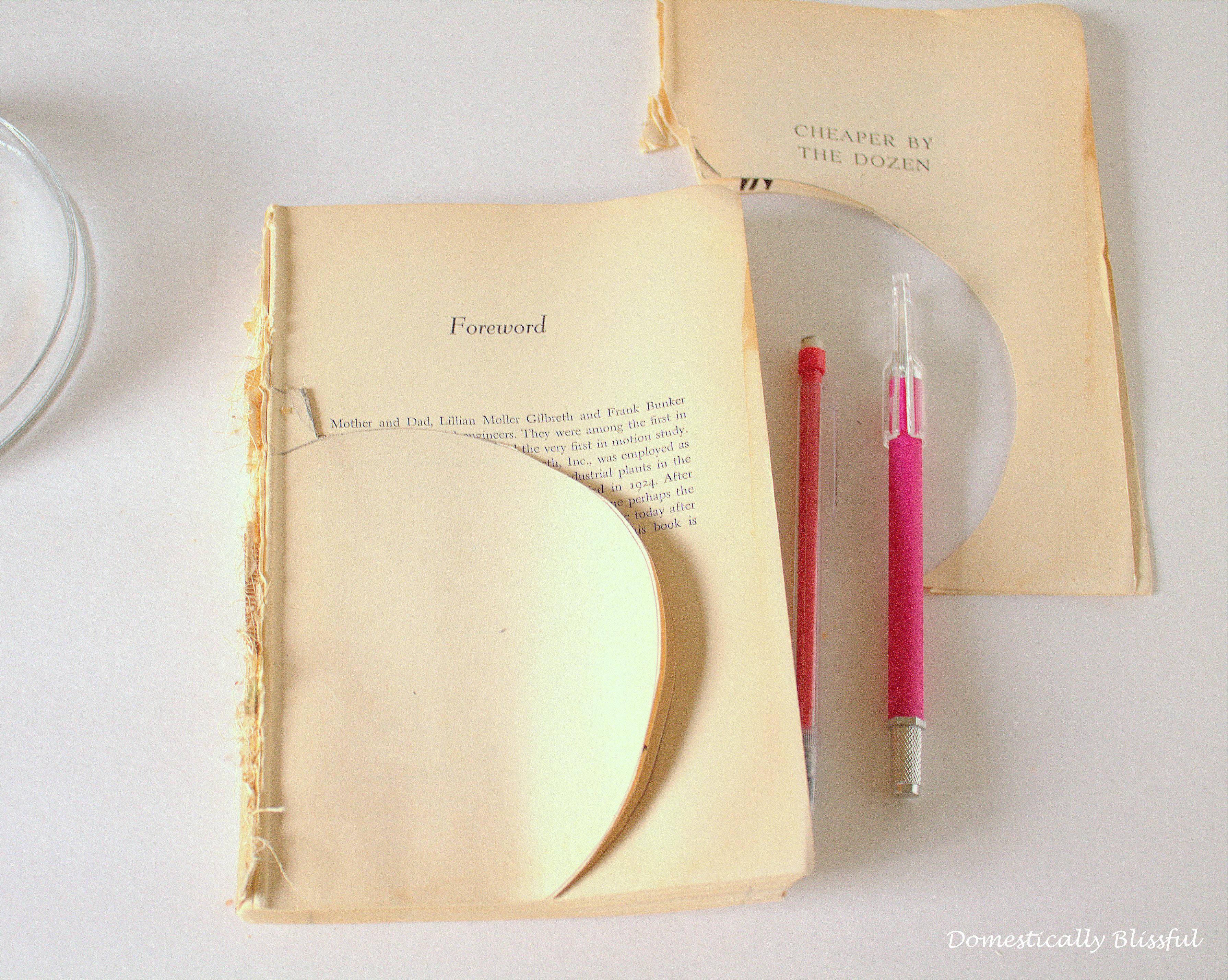 Start cutting the shape of the Paper Pumpkin