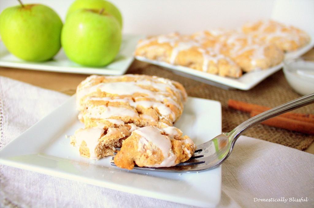 Warm Cinnamon Apple Scones
