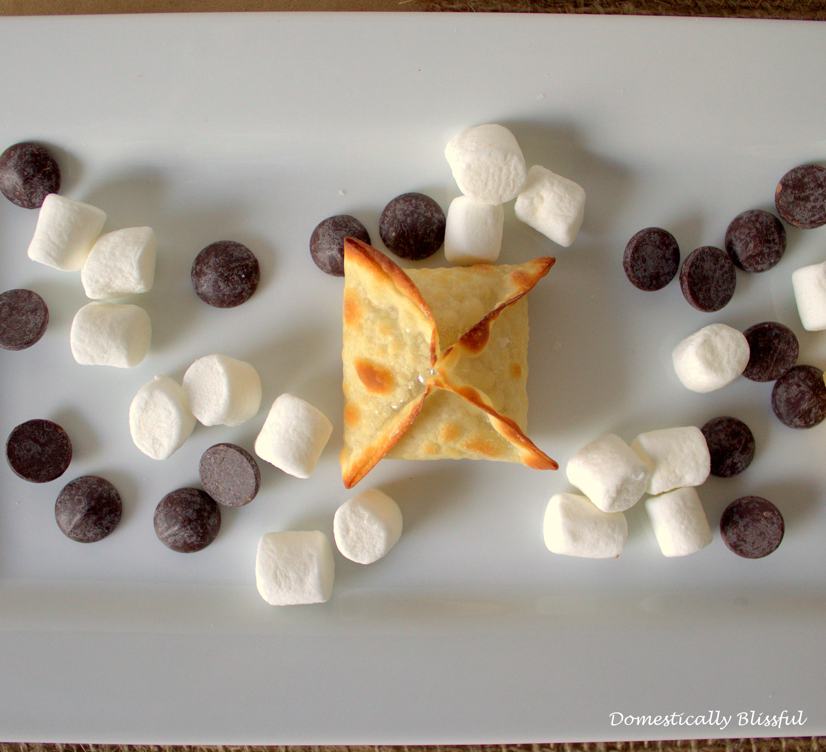 Baked Wanton S'more