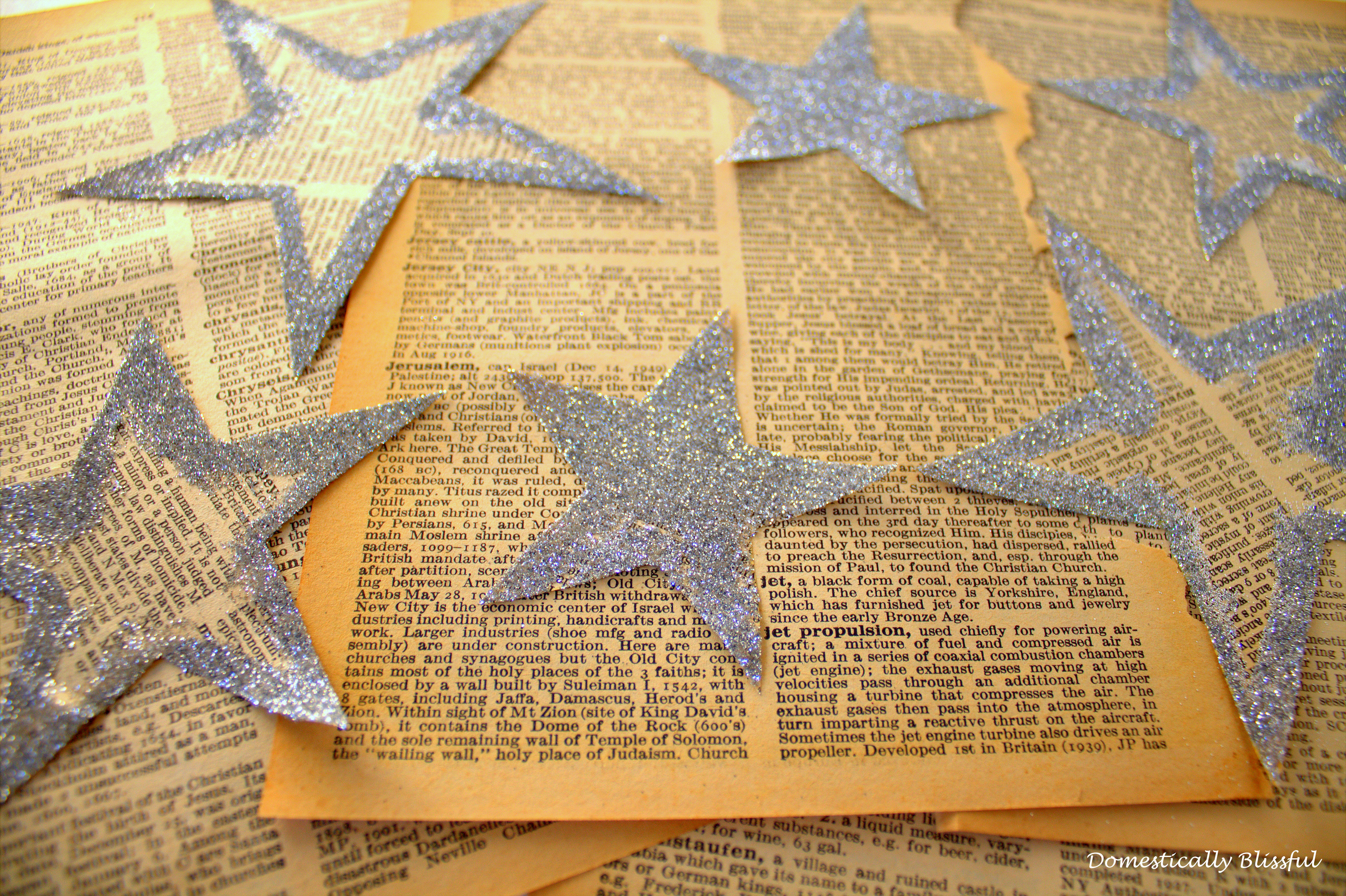 Glitter covered Paper Star