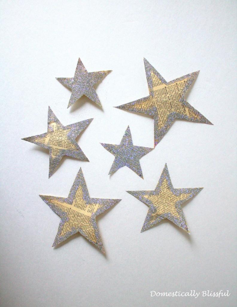 Glittery Paper Stars