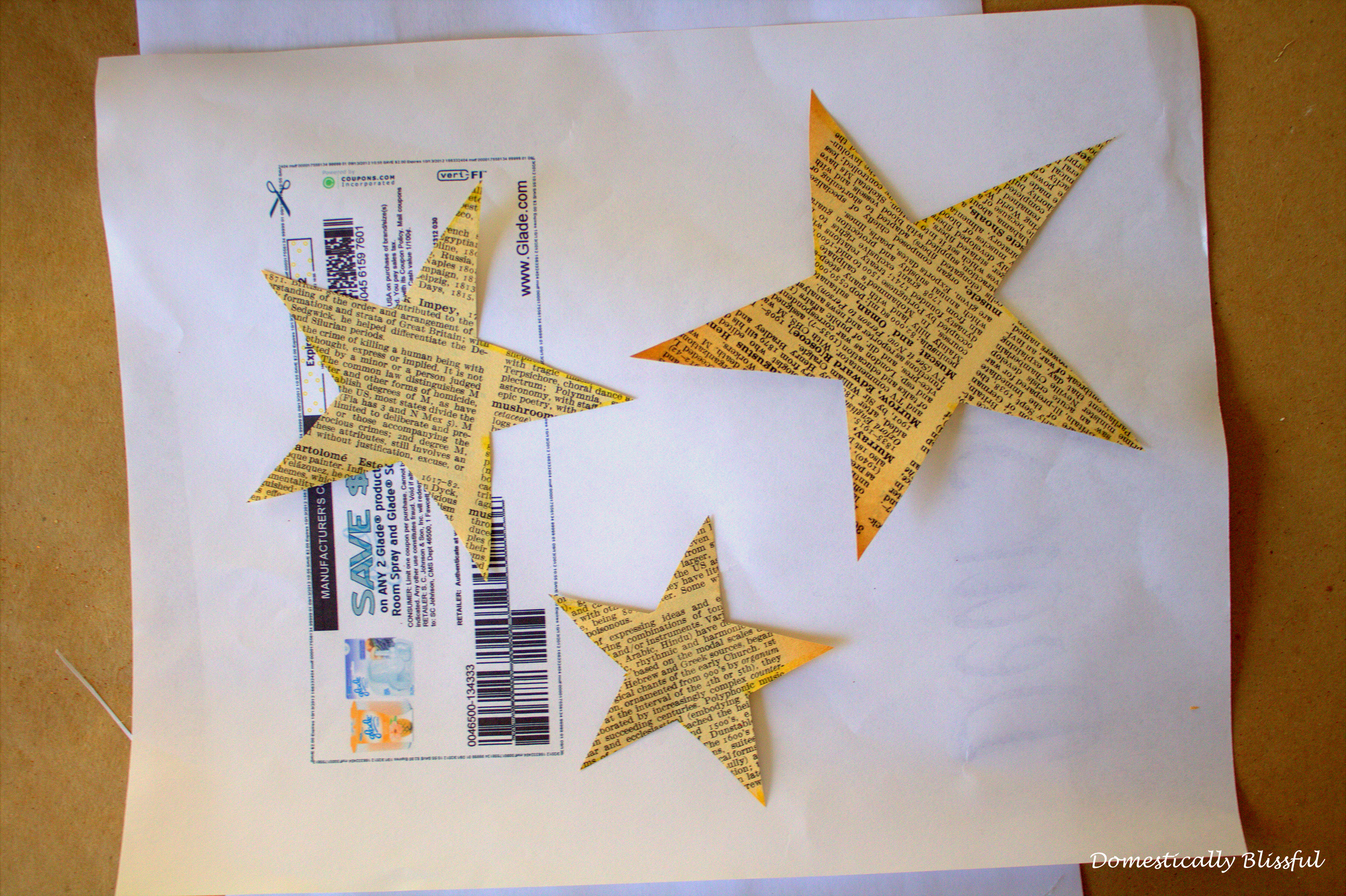 Stars made of Book Pages