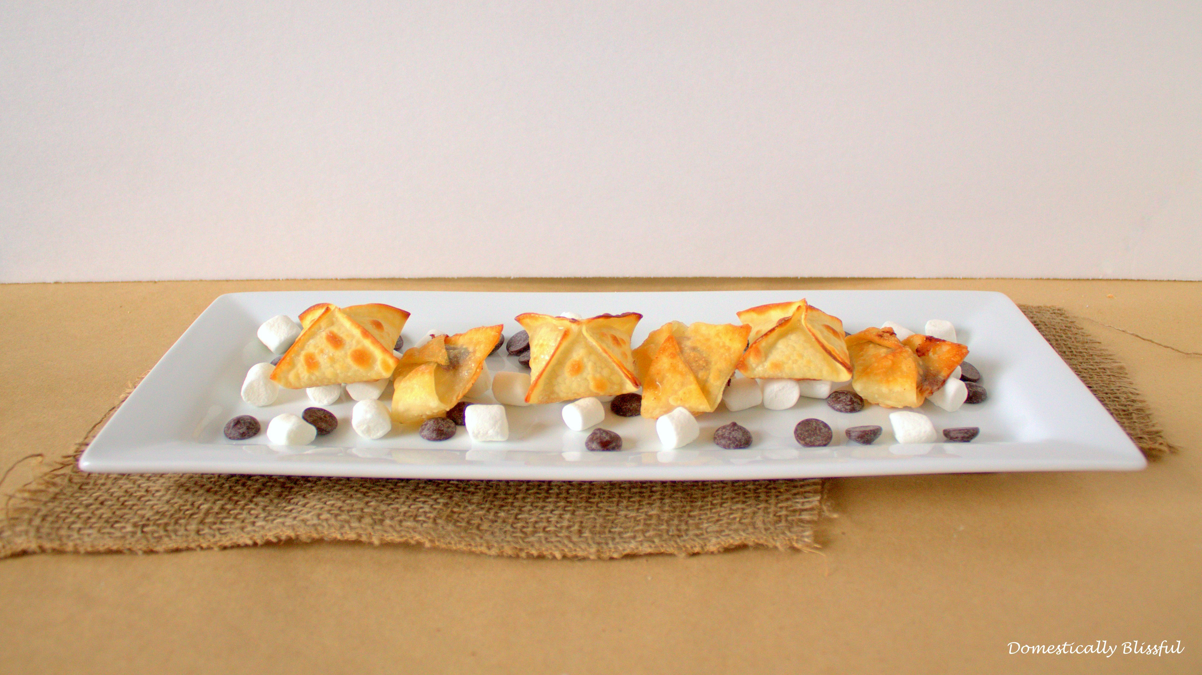 Wanton S'mores with Peanut Butter