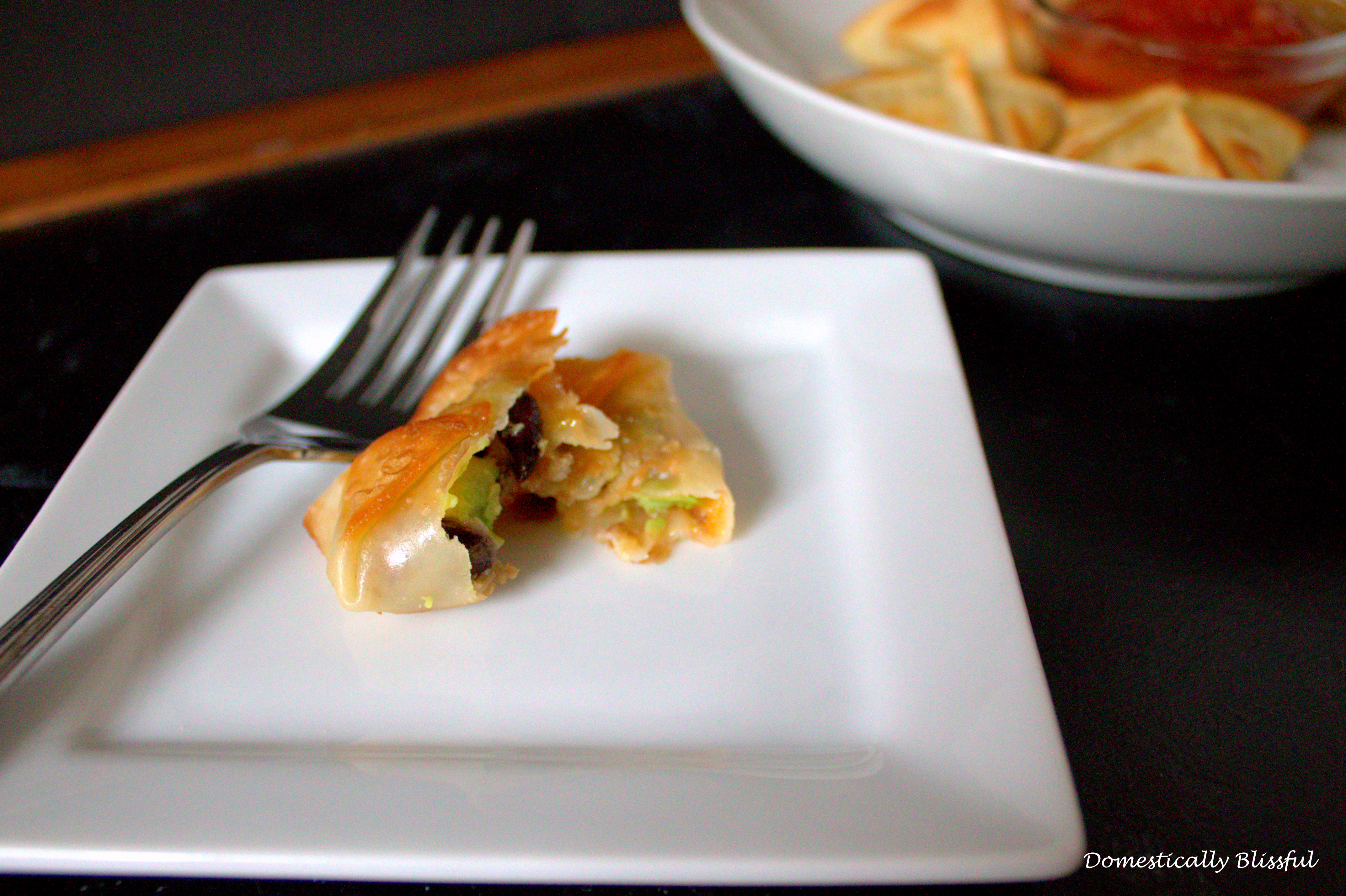 Wanton filled with beans and cheese
