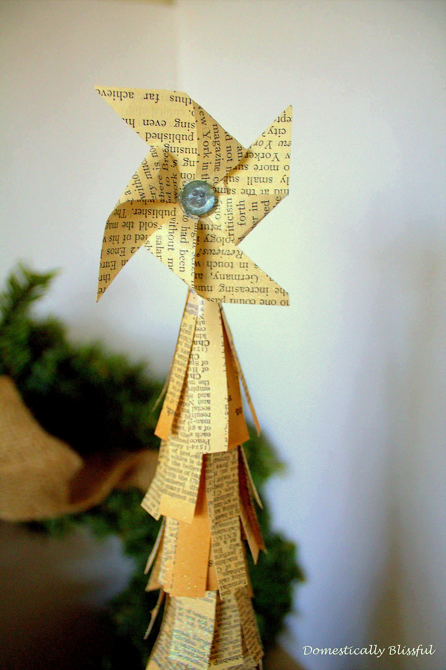 Paper Christmas Tree with Pinwheel Star
