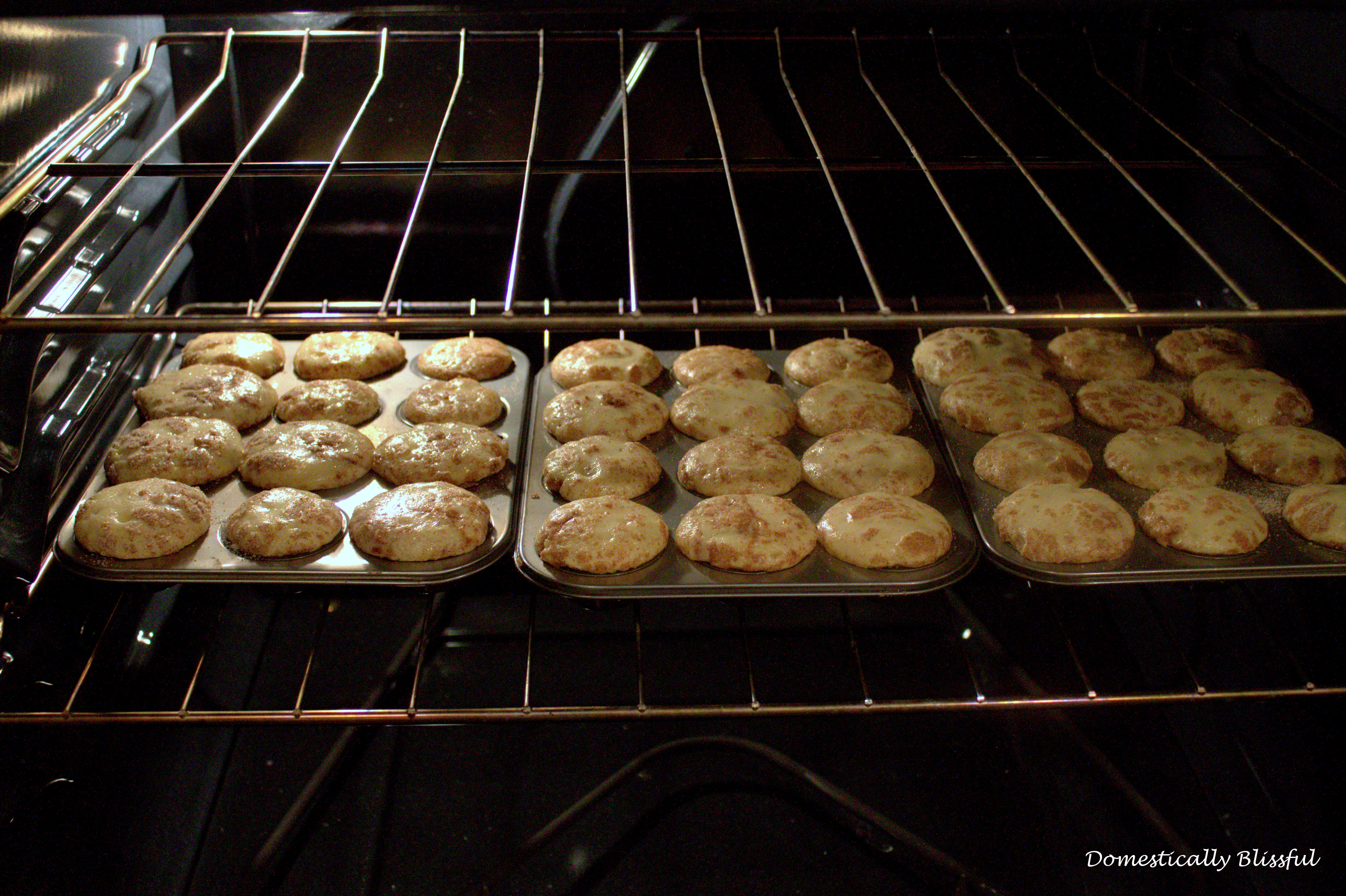 Baking Mini Snickerdoodle Muffins