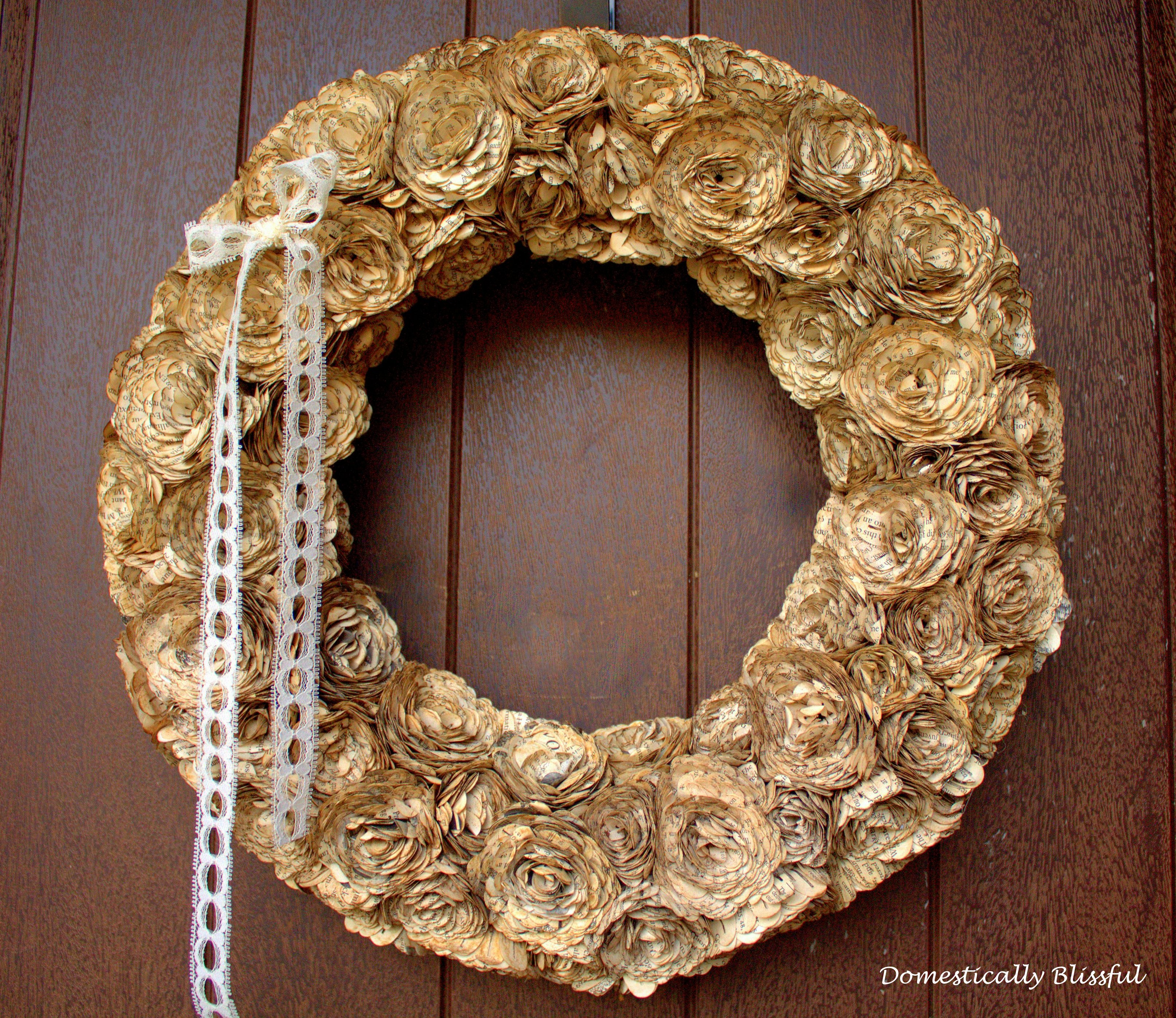 Beautiful Paper Flower Wreath