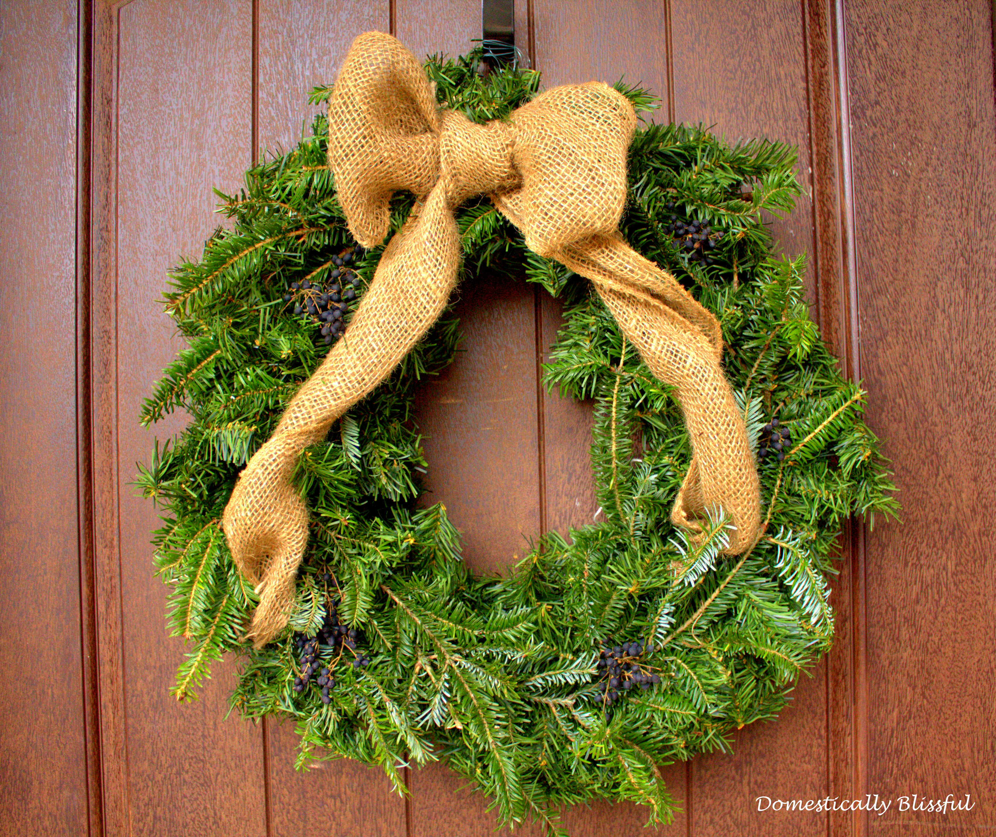 Simple Yet Beautiful Christmas Wreath