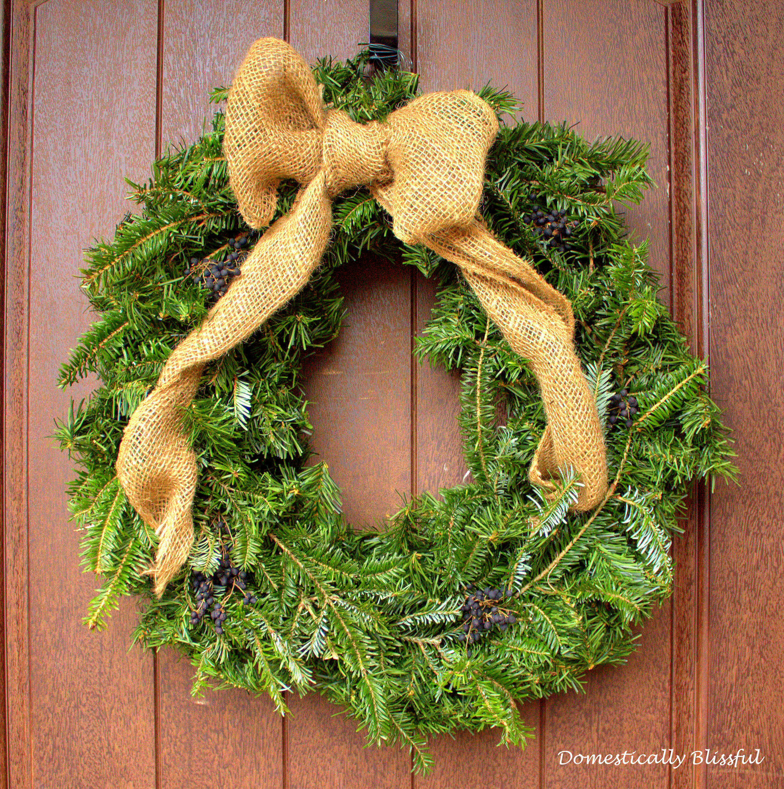 Transformed Artificial Christmas Wreath