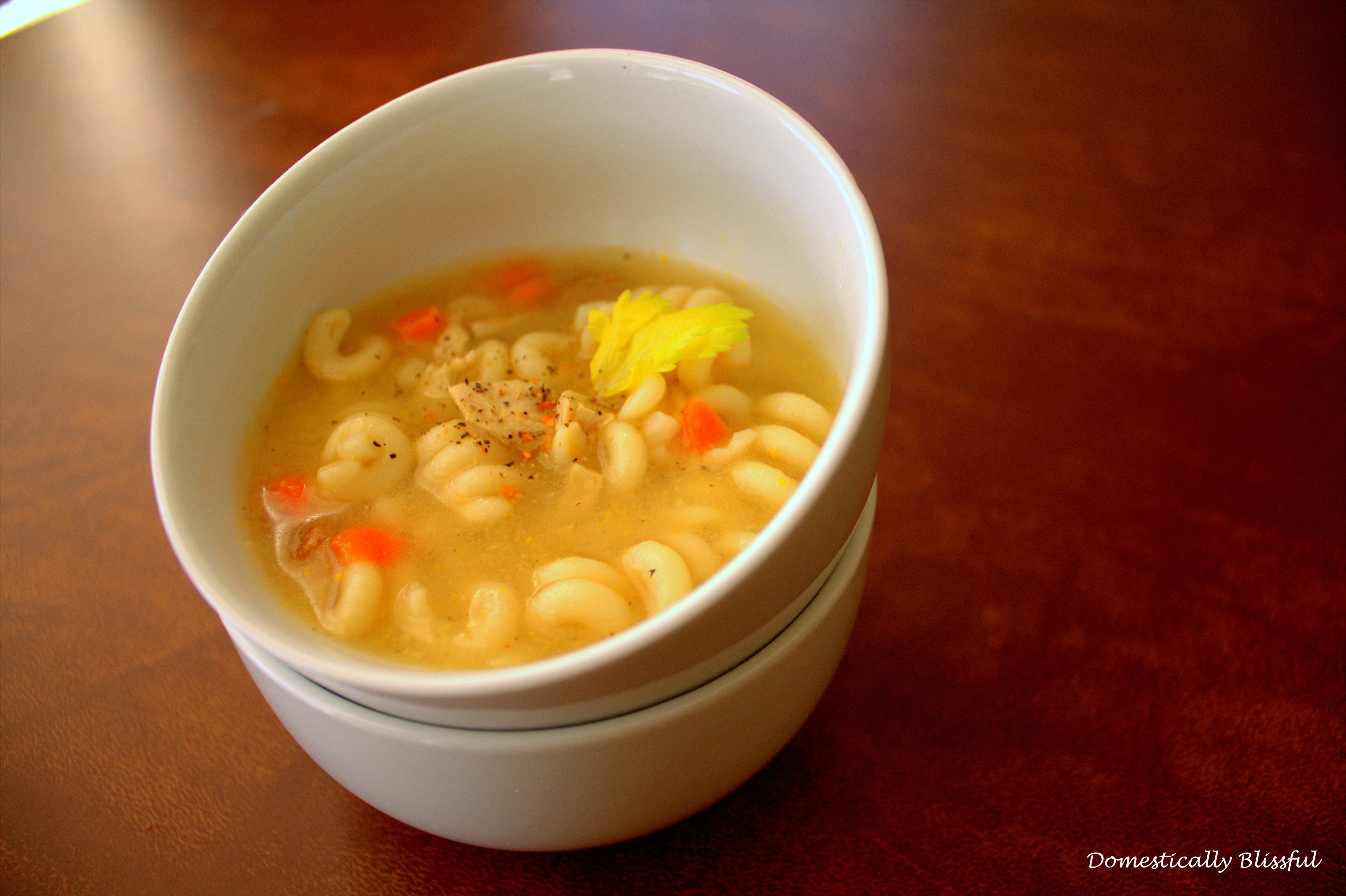 Vegetarian Chicken Noodle Soup