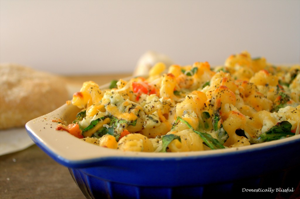 Fancy Pasta with Vegetables - Domestically Blissful