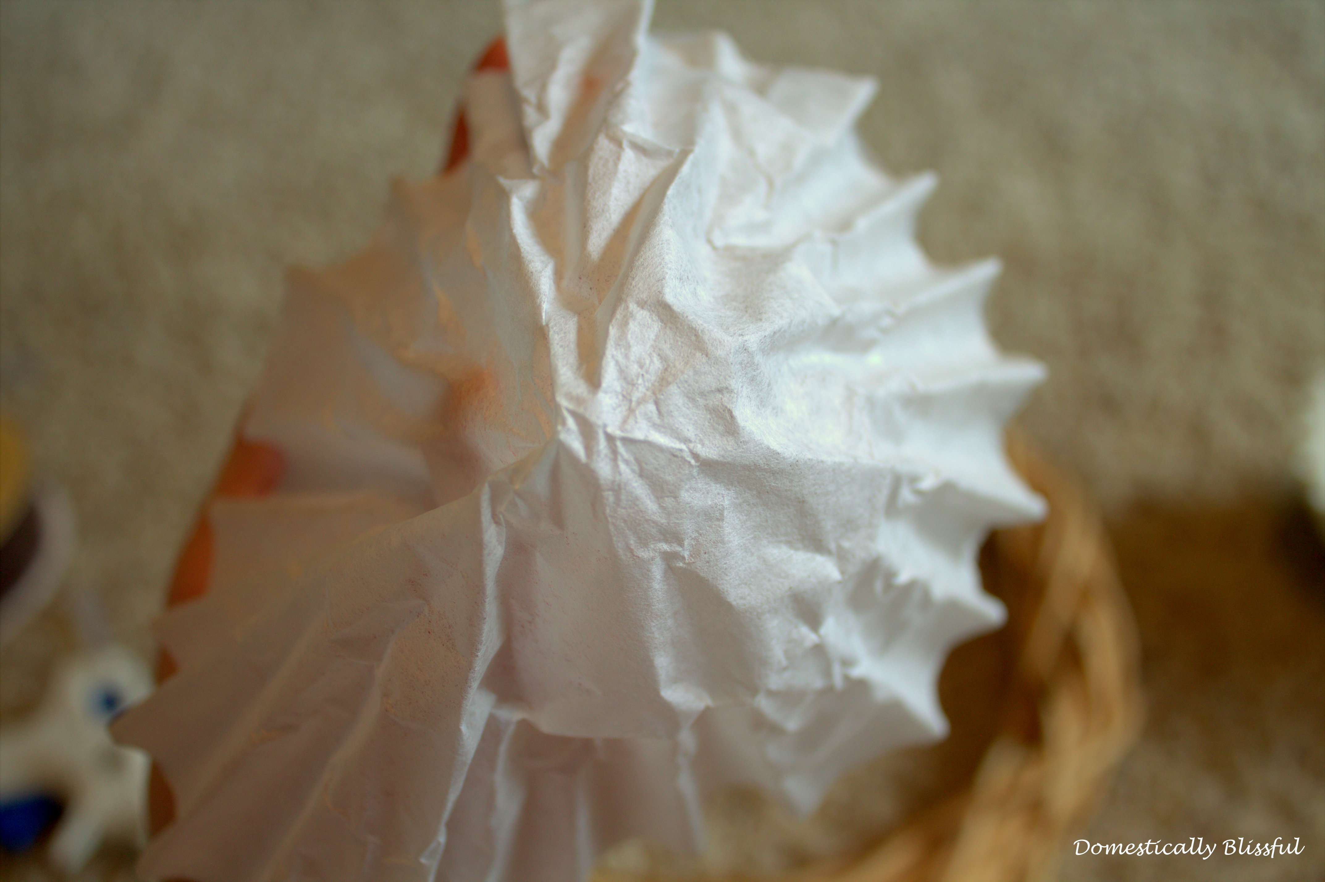 Folding a Coffee Filter for a Coffee Filter Wreath