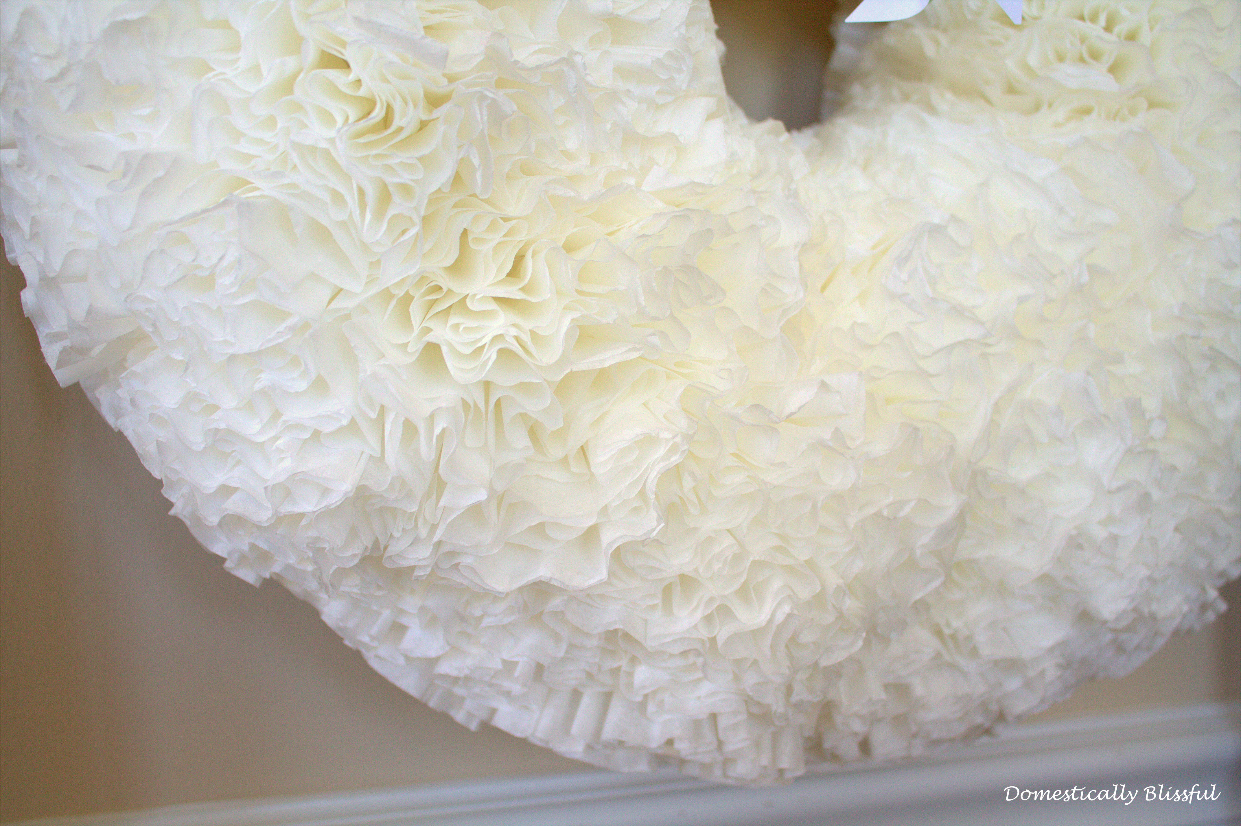 Fully and Fluffy Coffee Filter Wreath