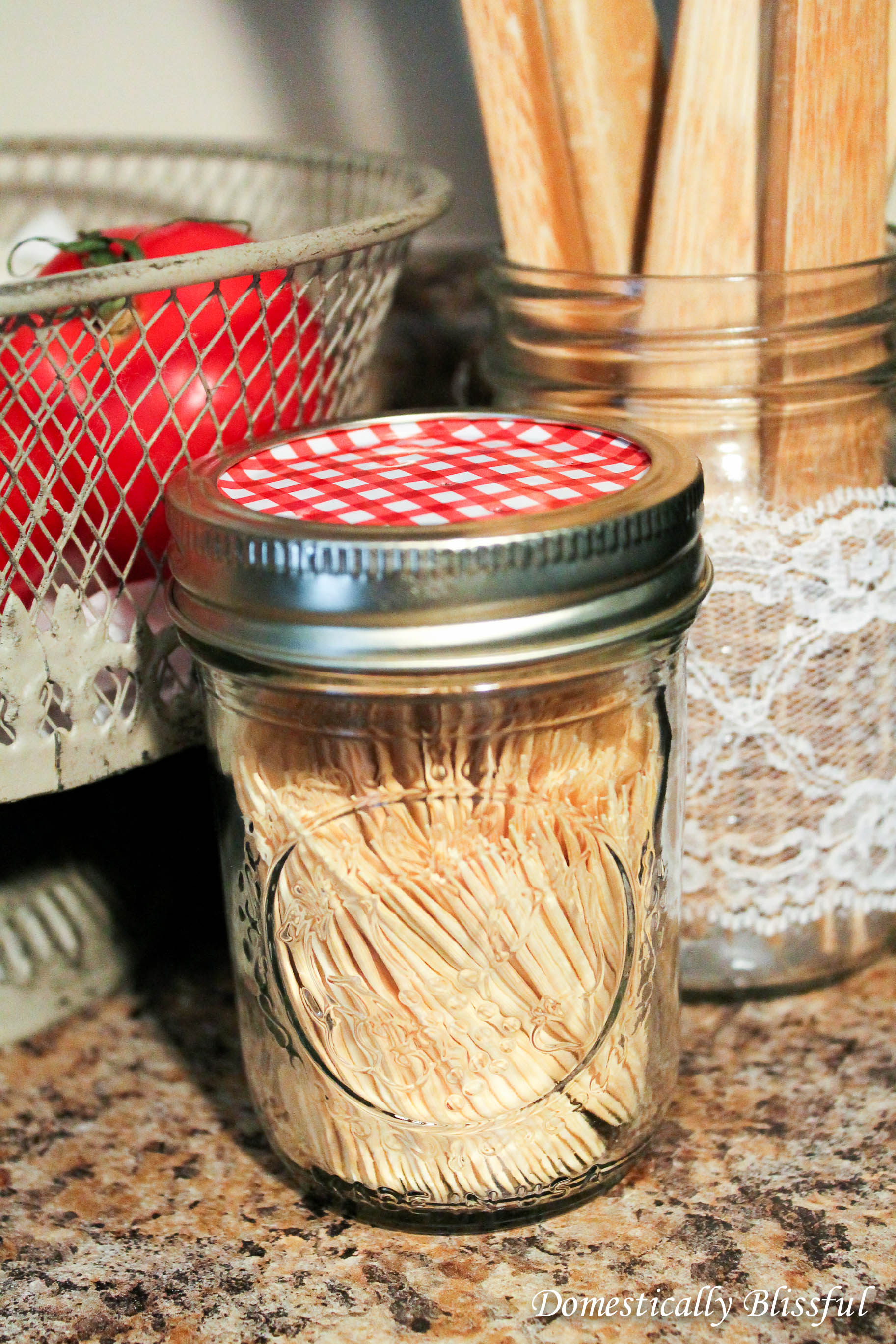 Cute and Practical Mason Jar Tootpick Dispenser