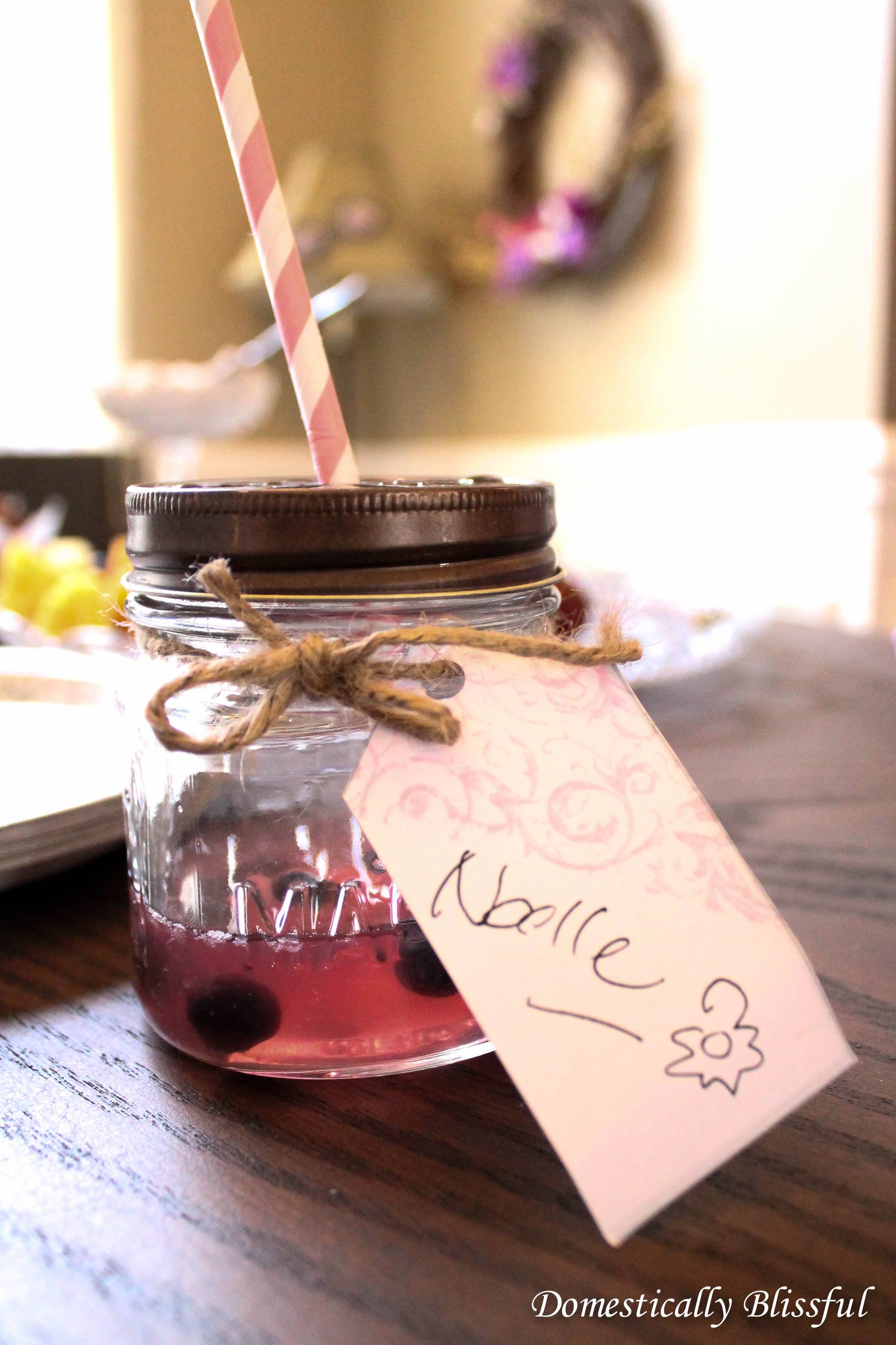 Mason Jar Drink Name Tags