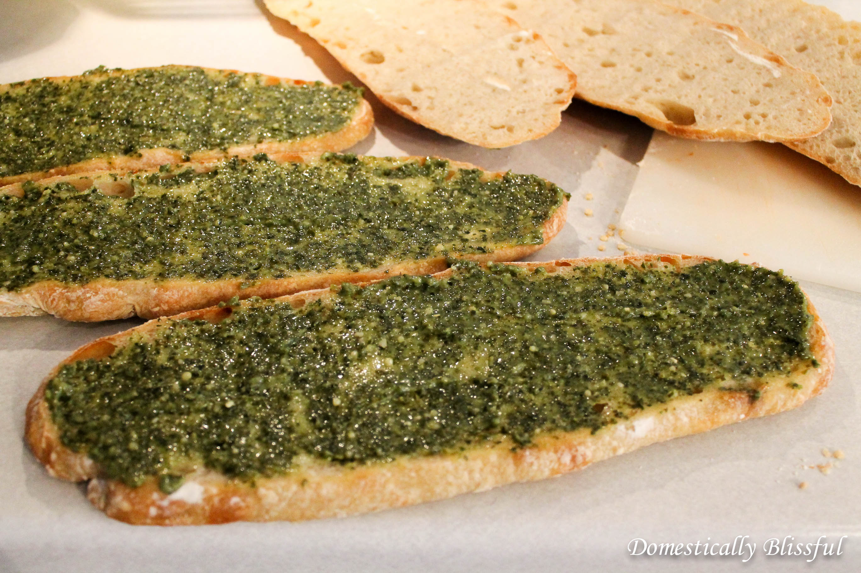 Pesto on Ciabatta Bread
