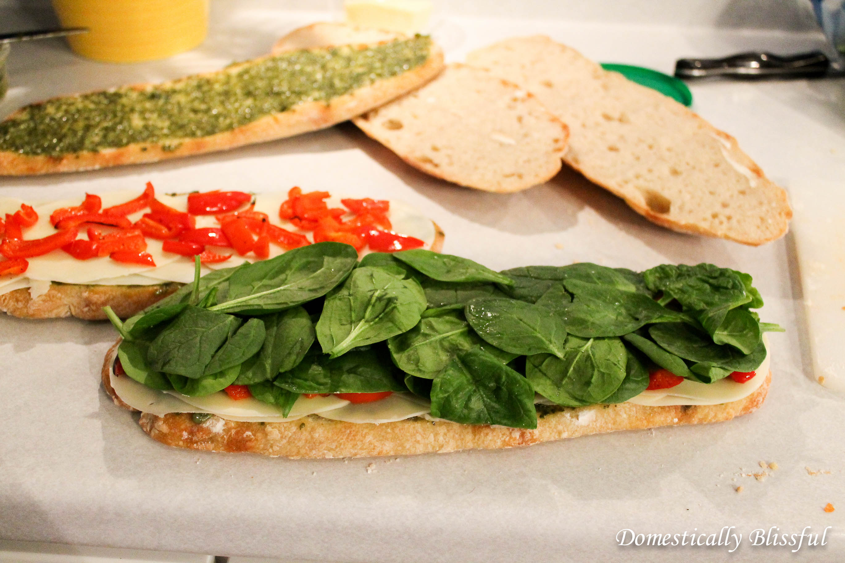 Spinach on an Italian Pressed Sandwich