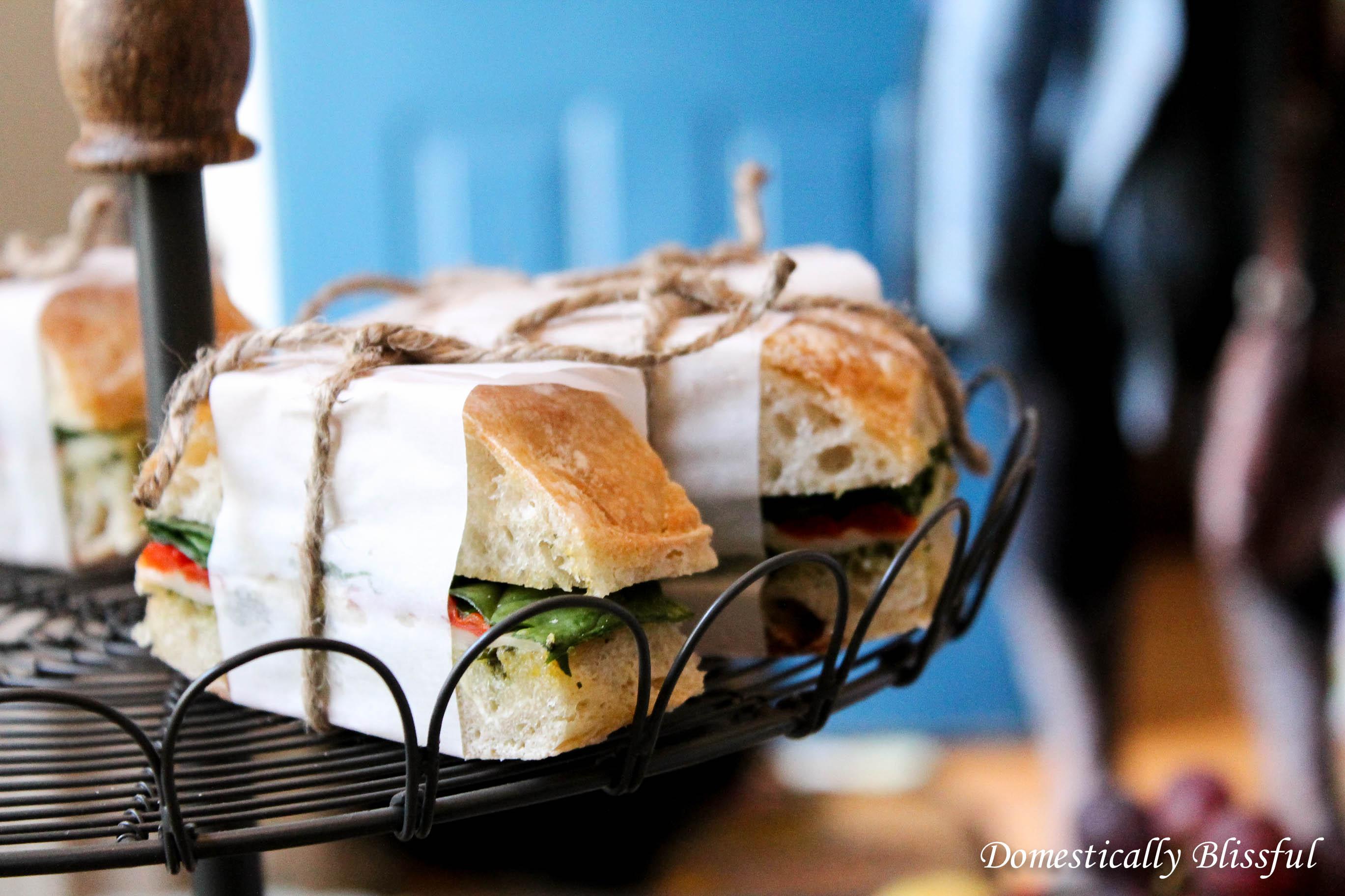 Vegetarian Pressed Sandwiches