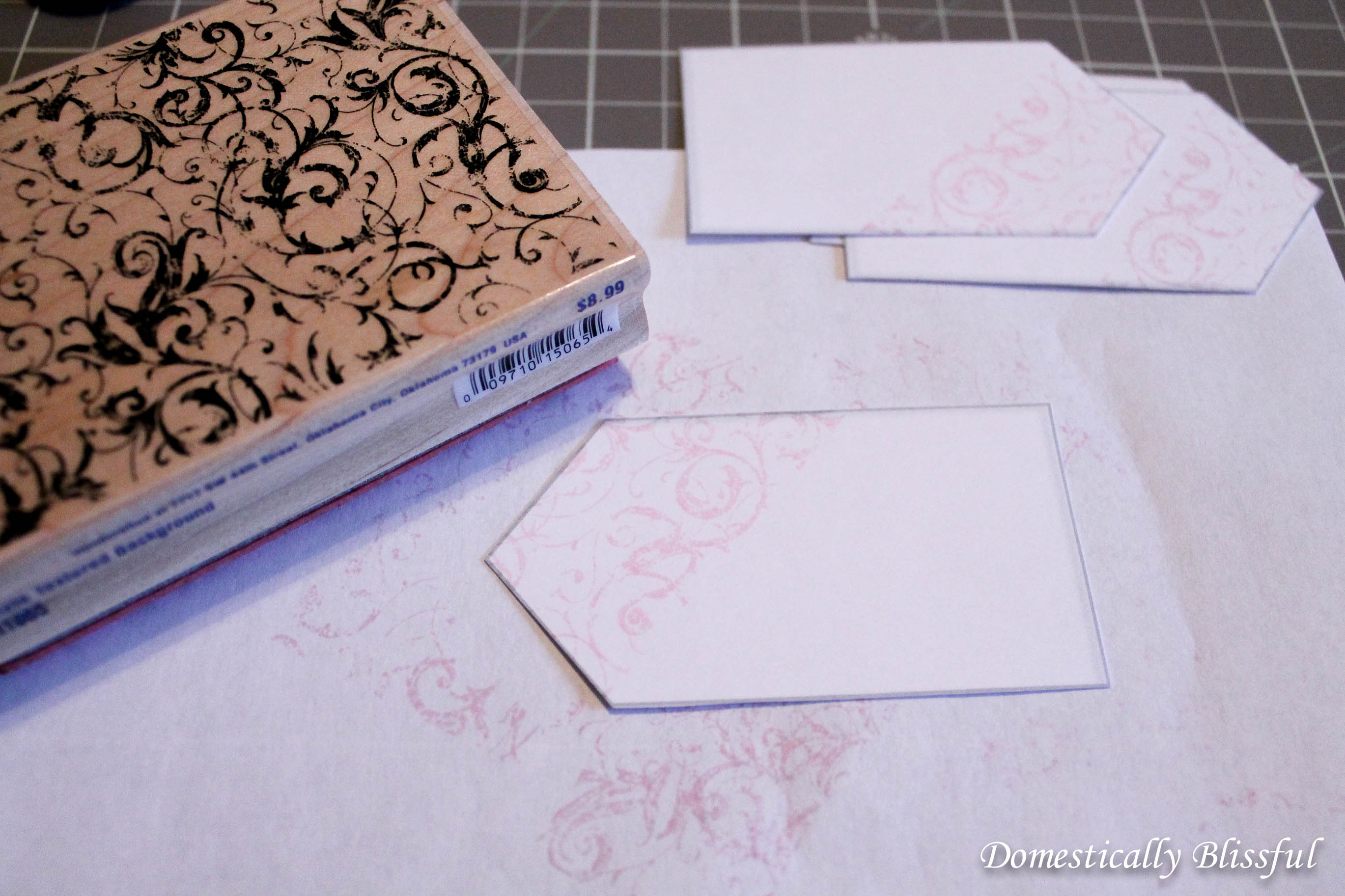 stamping drink tags