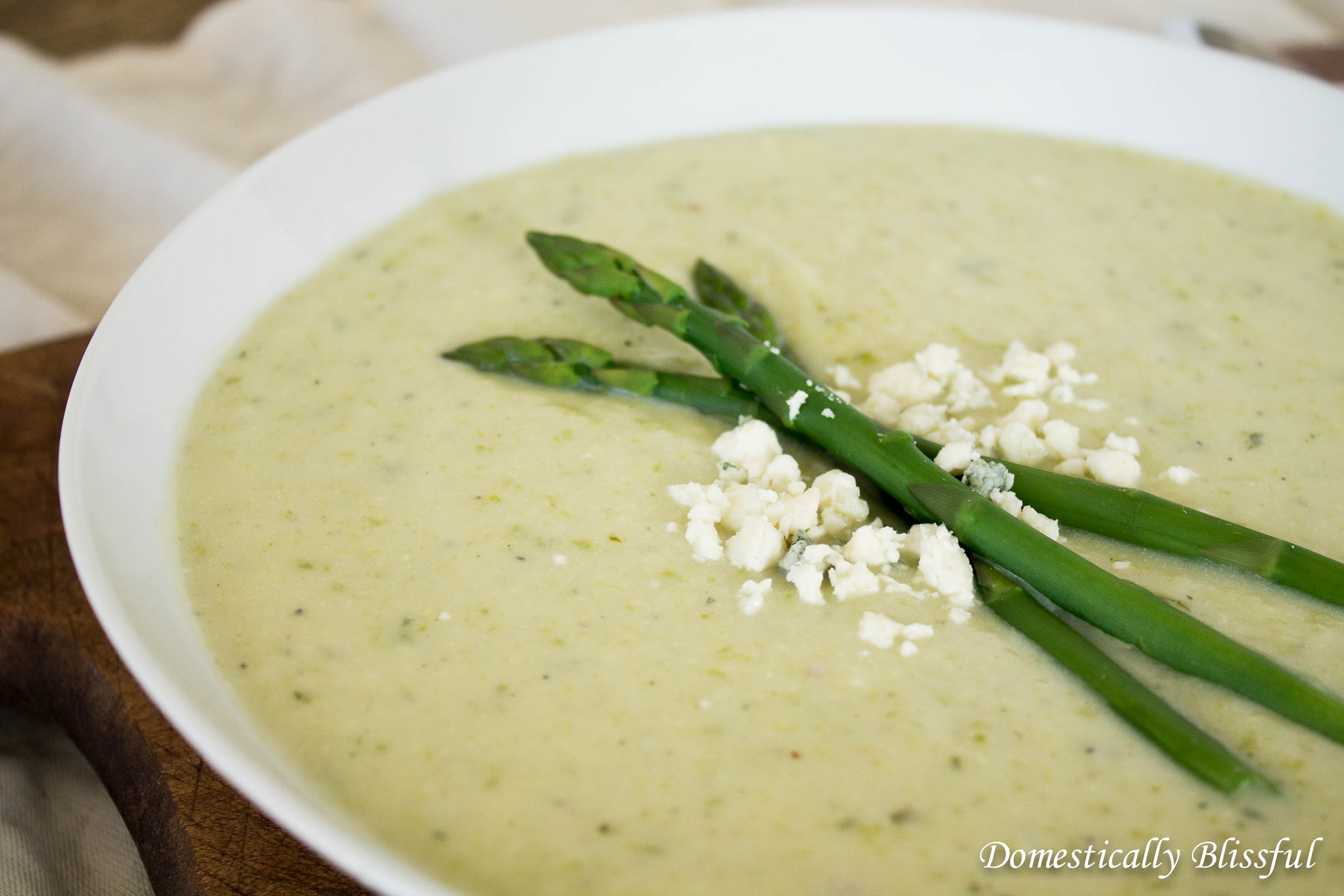 Asparagus Soup with a secret ingredient