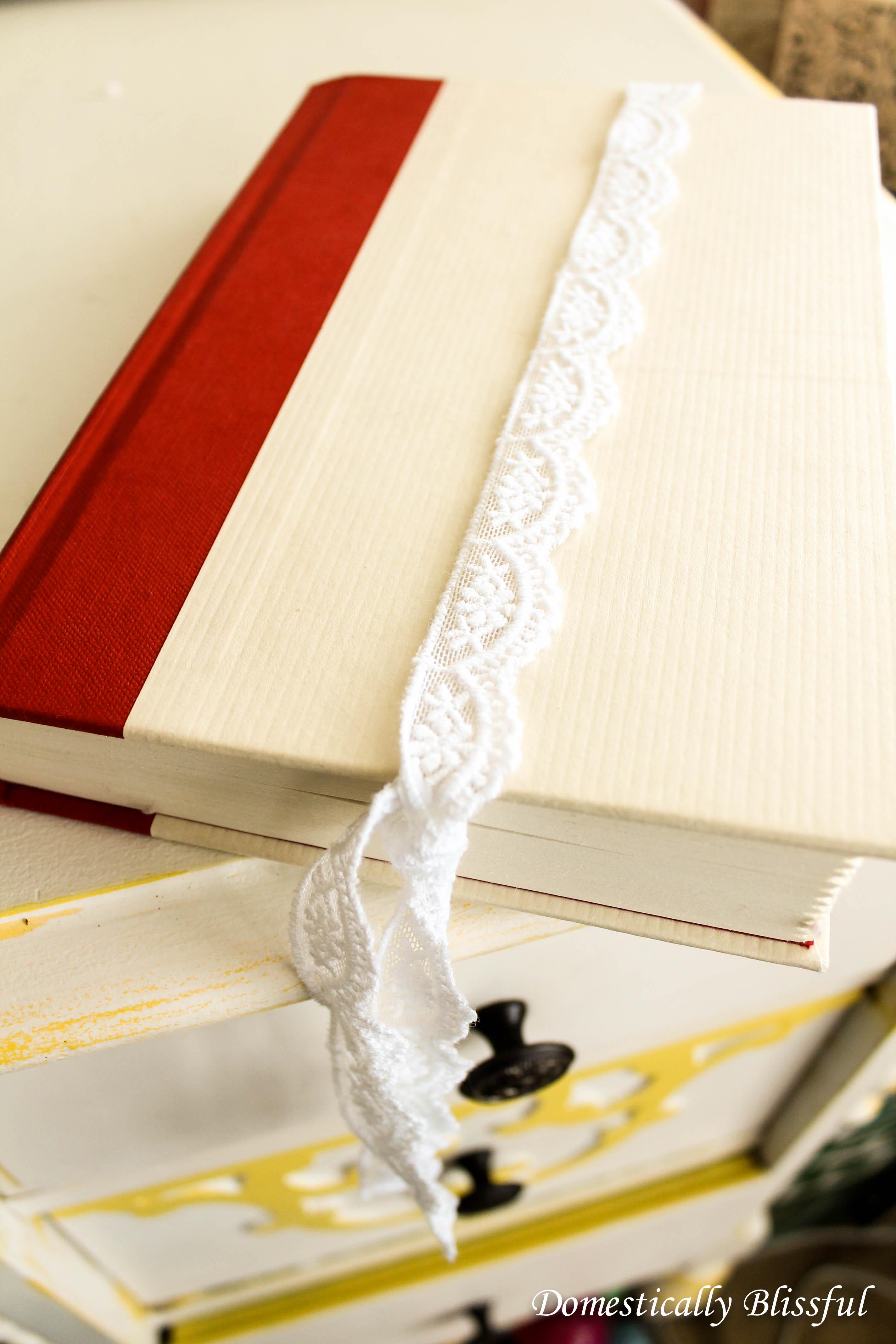 Cherry Blossom Lace Bookmark