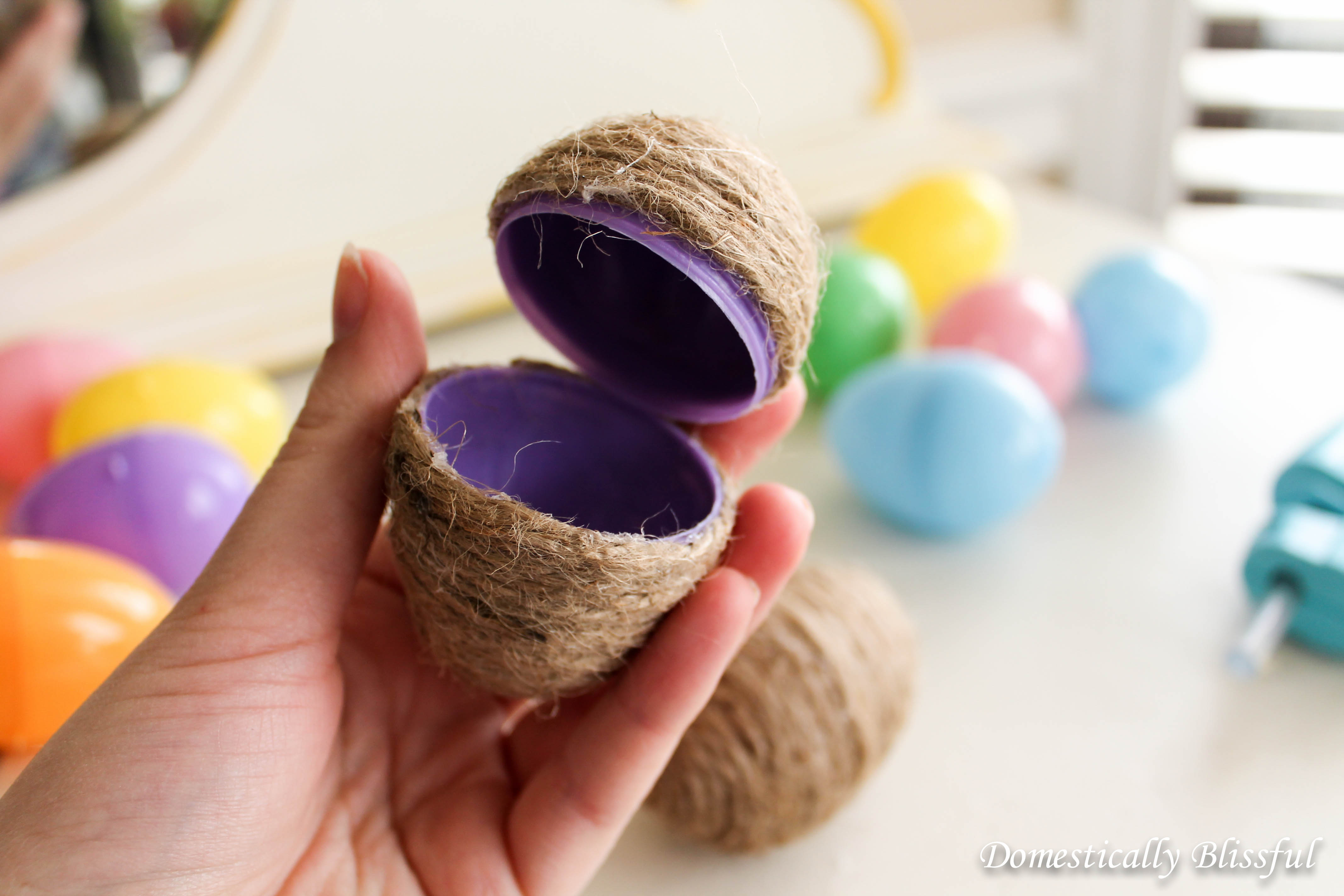Covered Twine Egg for Easter Egg Hunt