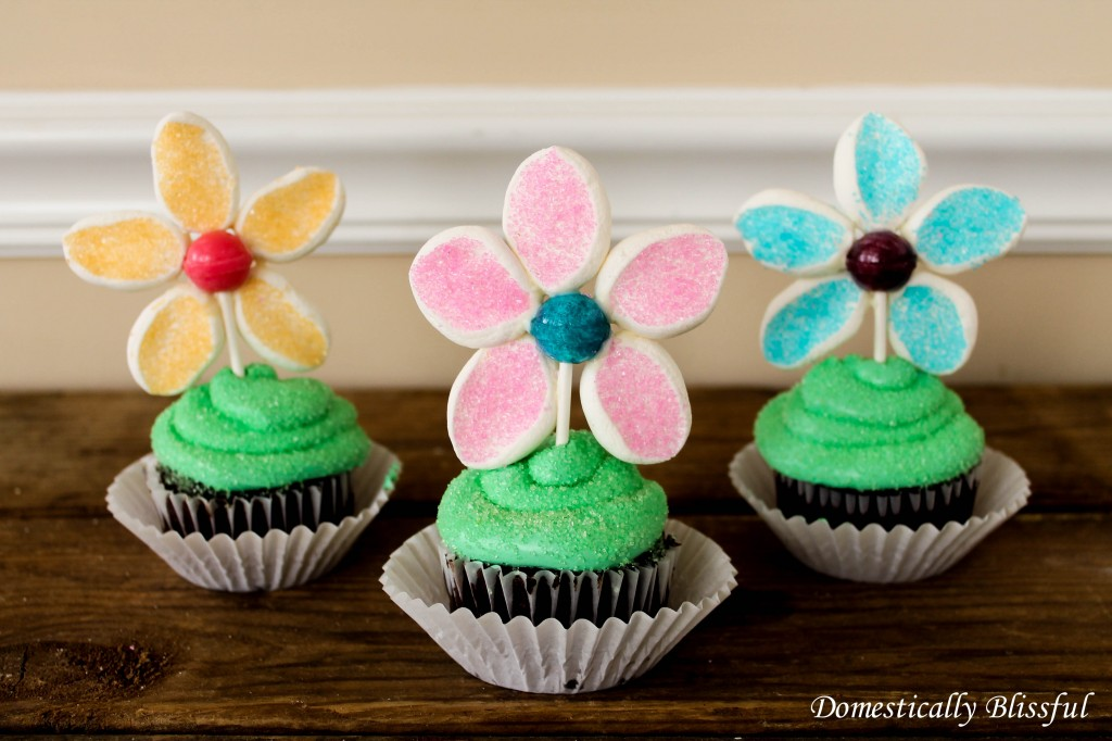 Edible Flower Cupcake Topper