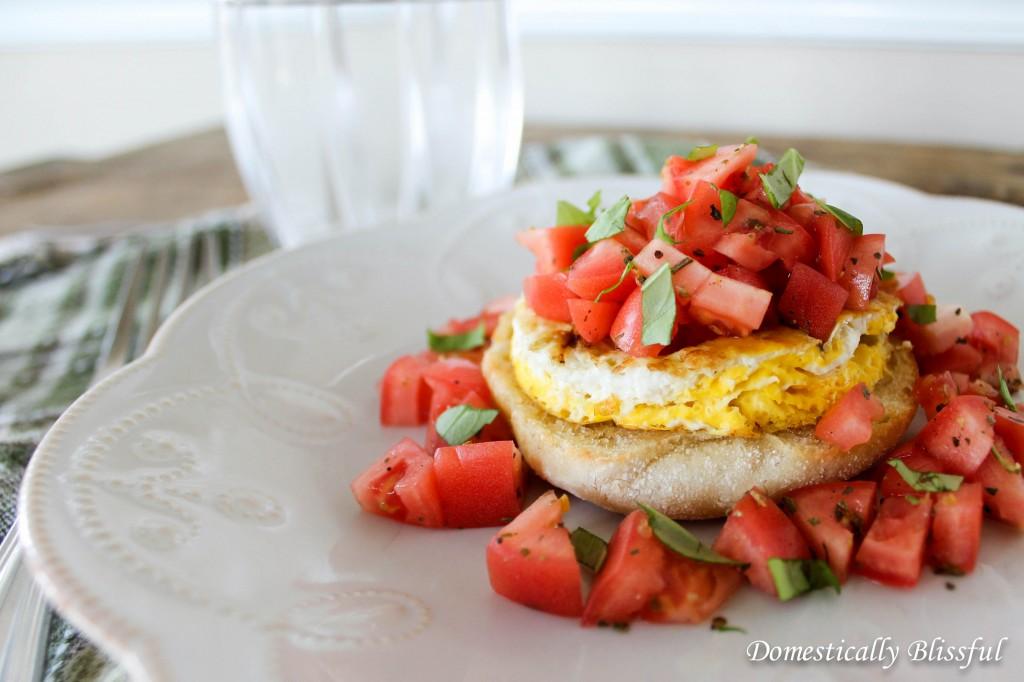 Simple Open Face Breakfast Sandwich