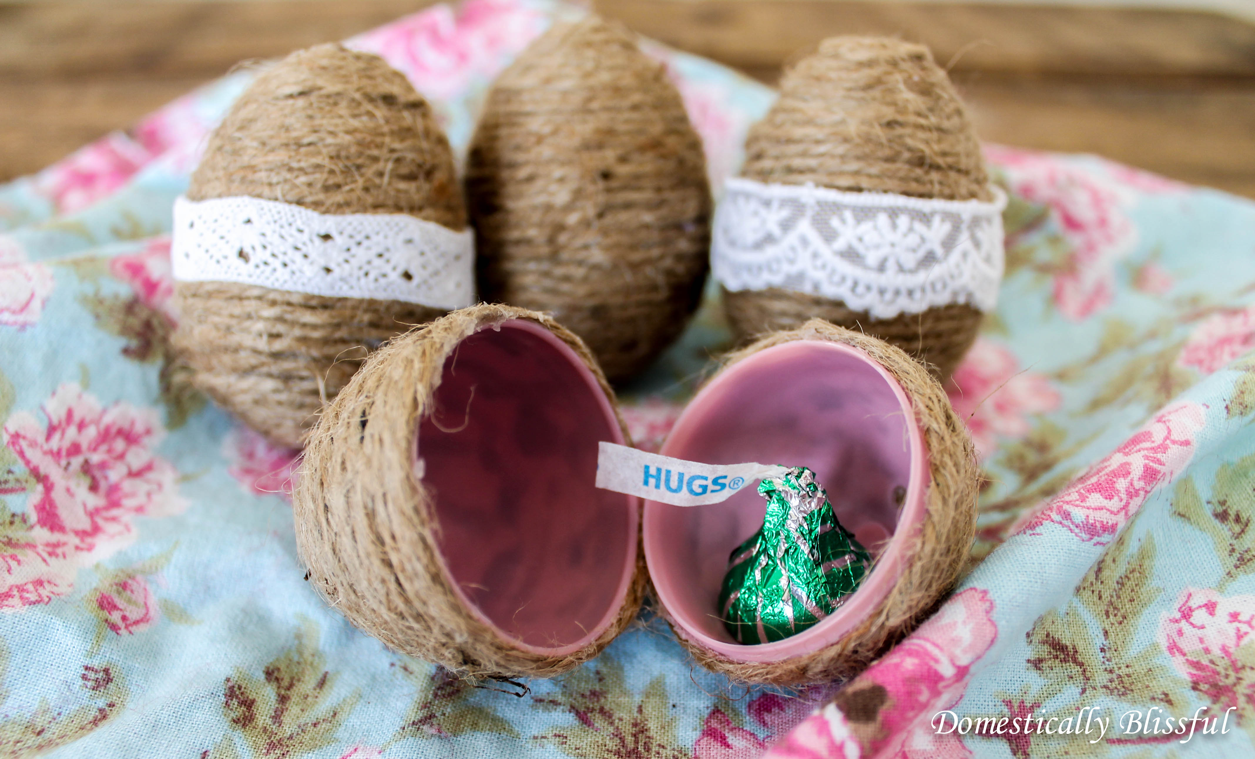 Twine Eggs for Easter Egg Hunt