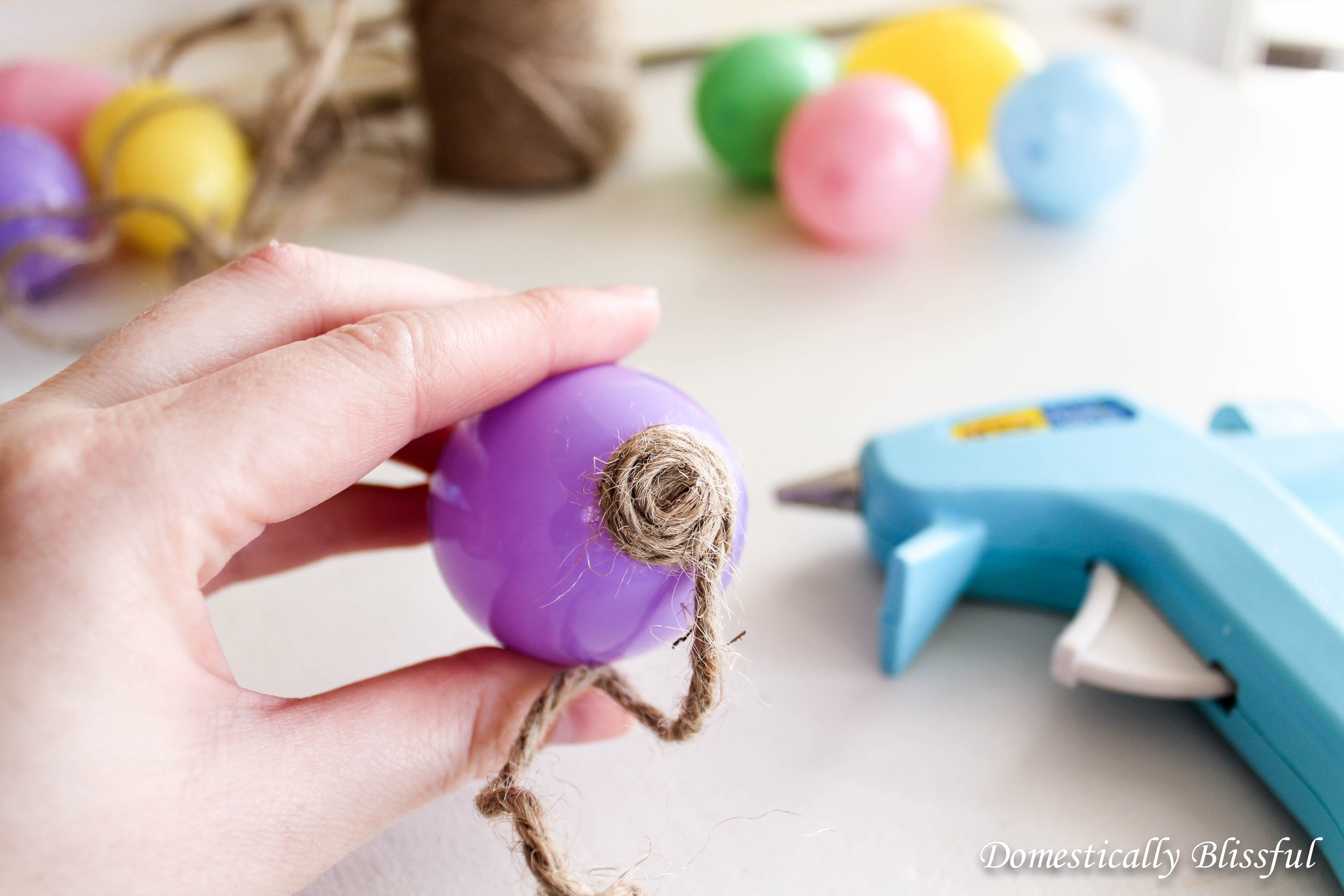 Twine Wrapped Eggs Craft