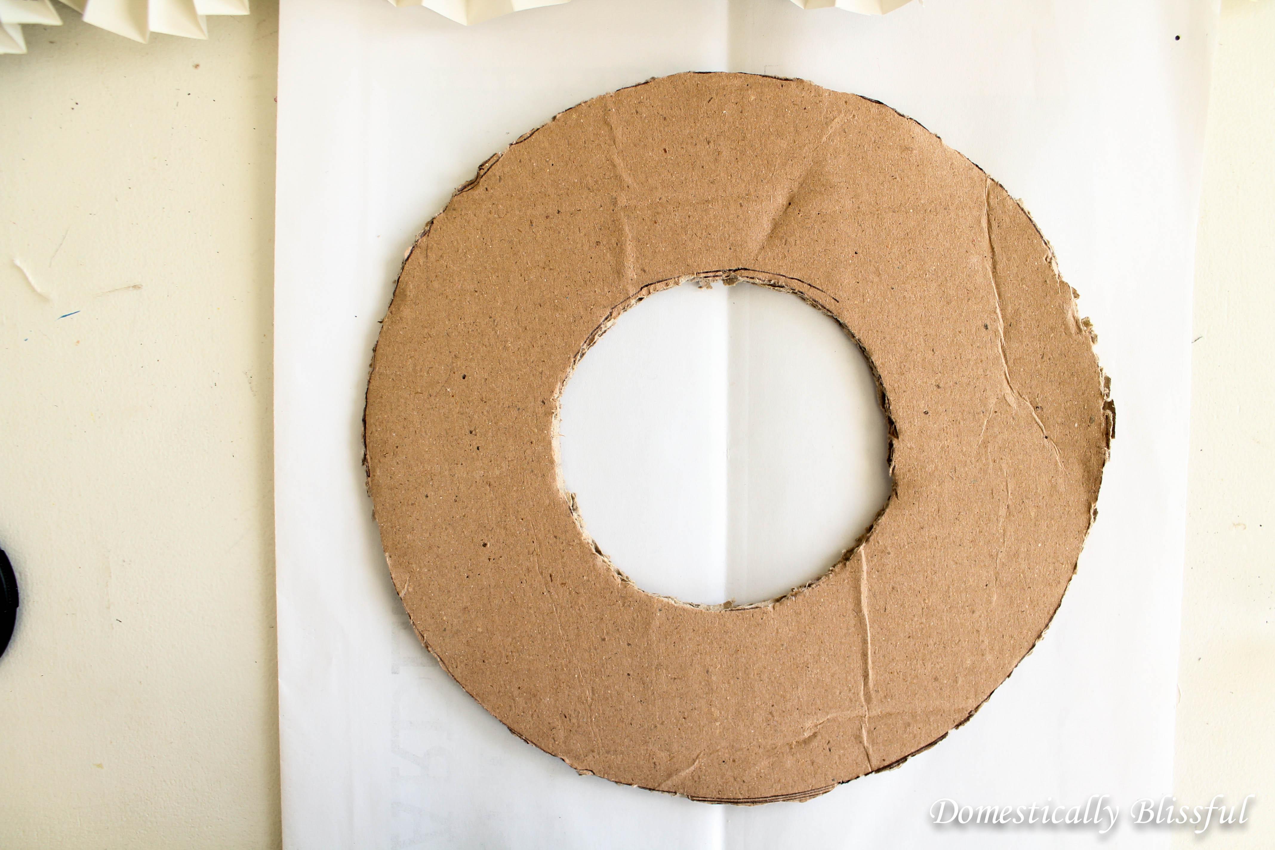 Cardboard Wreath