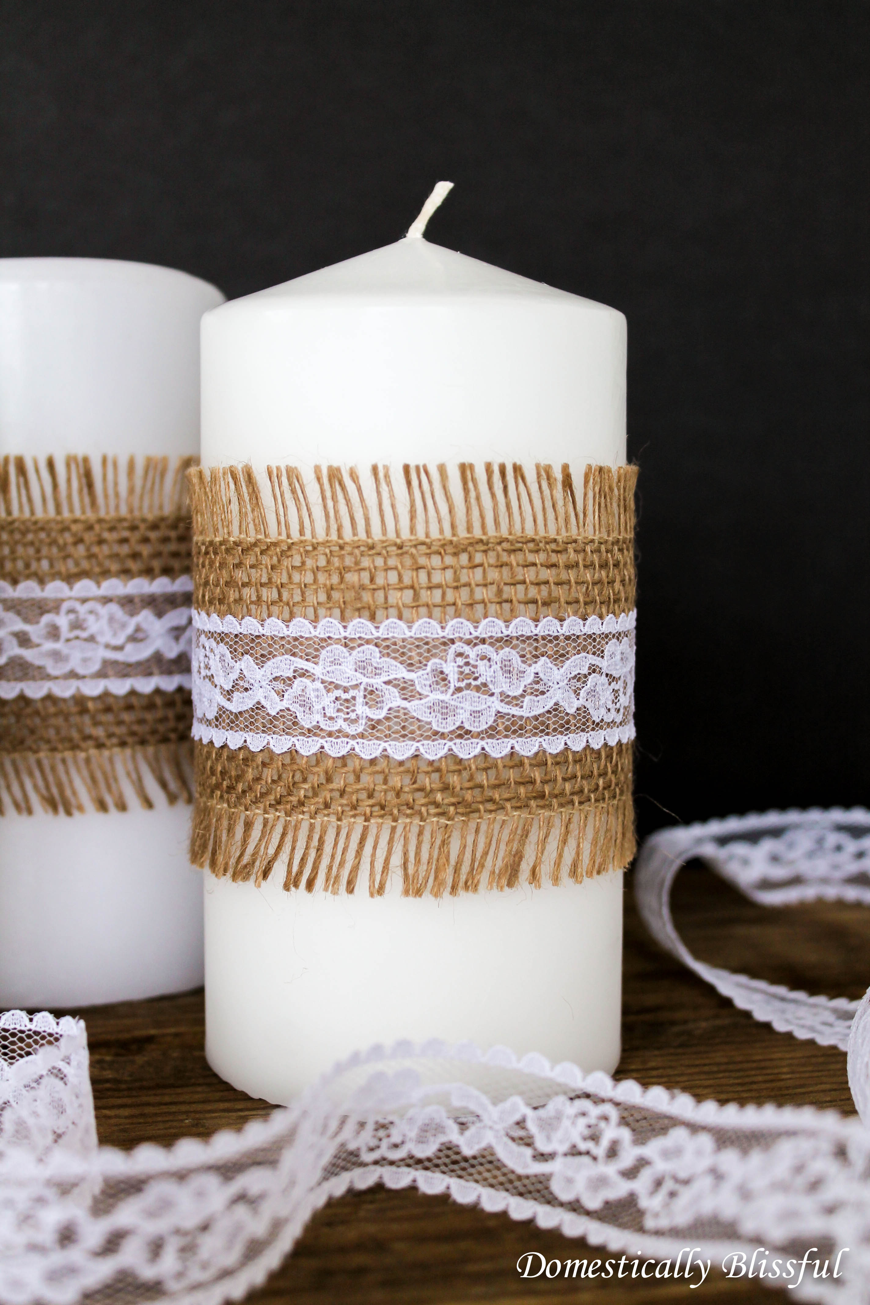 DIY Shabby Chic Candles