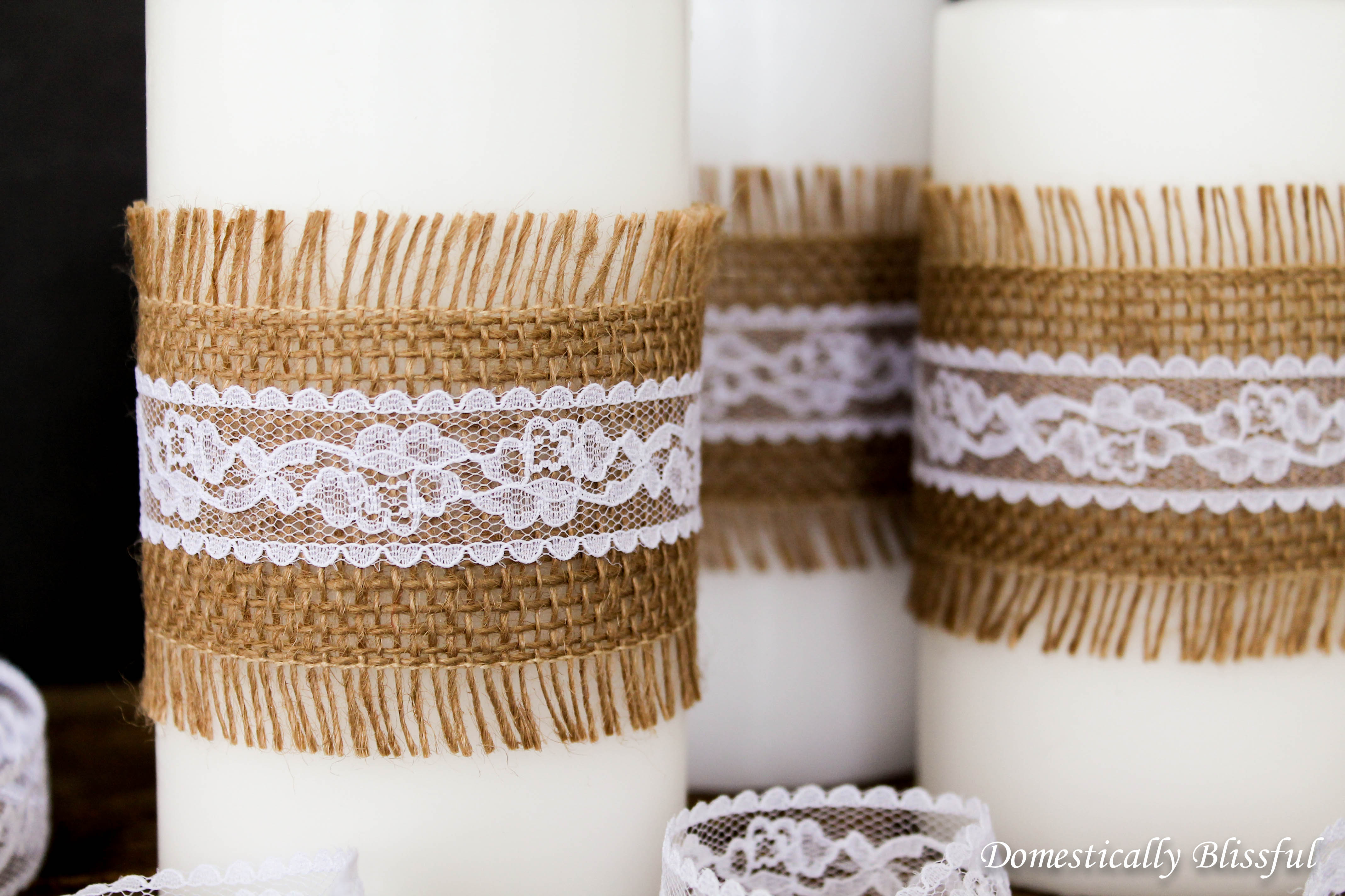 DIY with Burlap and Lace