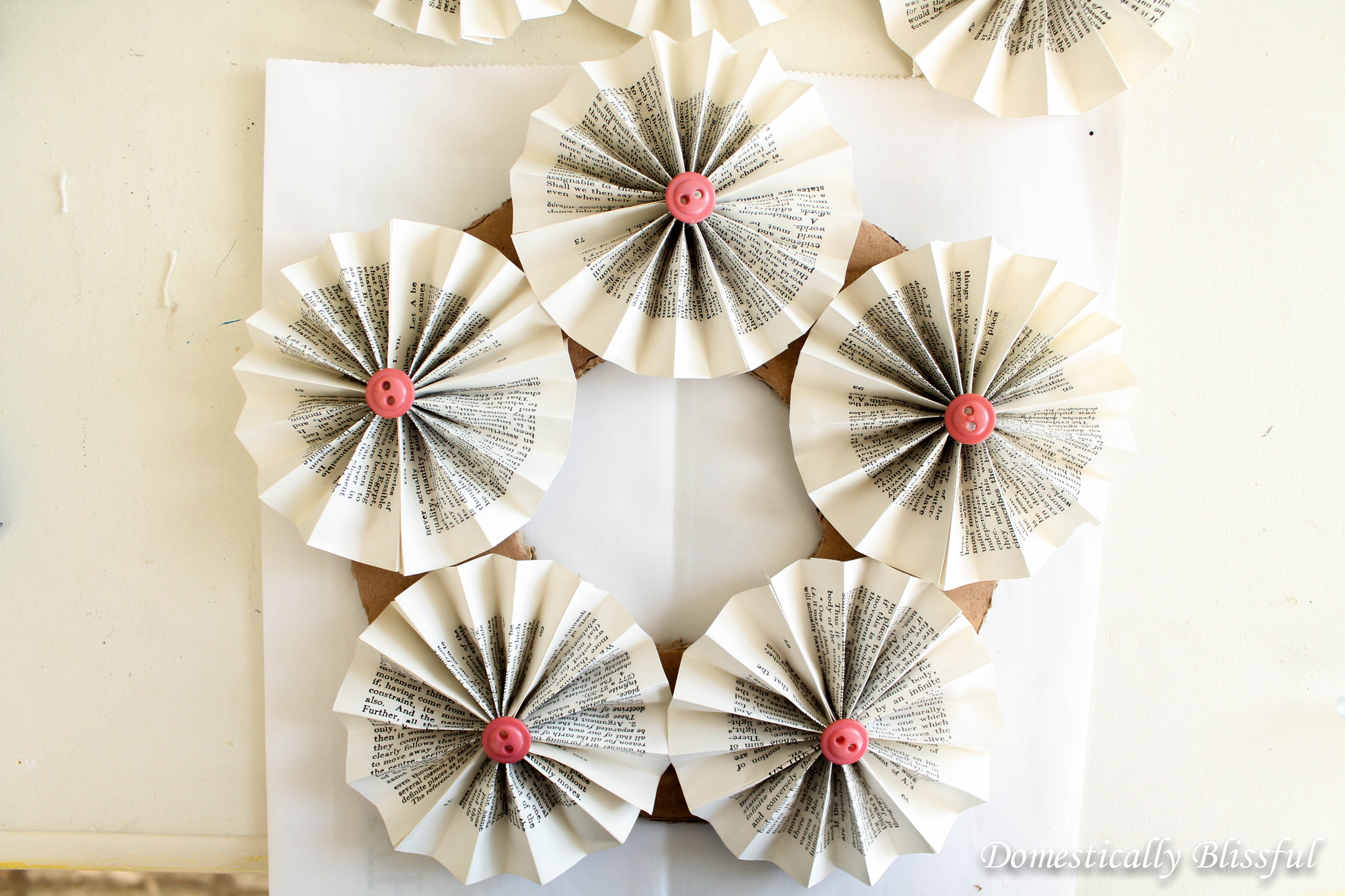 First Layer of Paper Rosettes