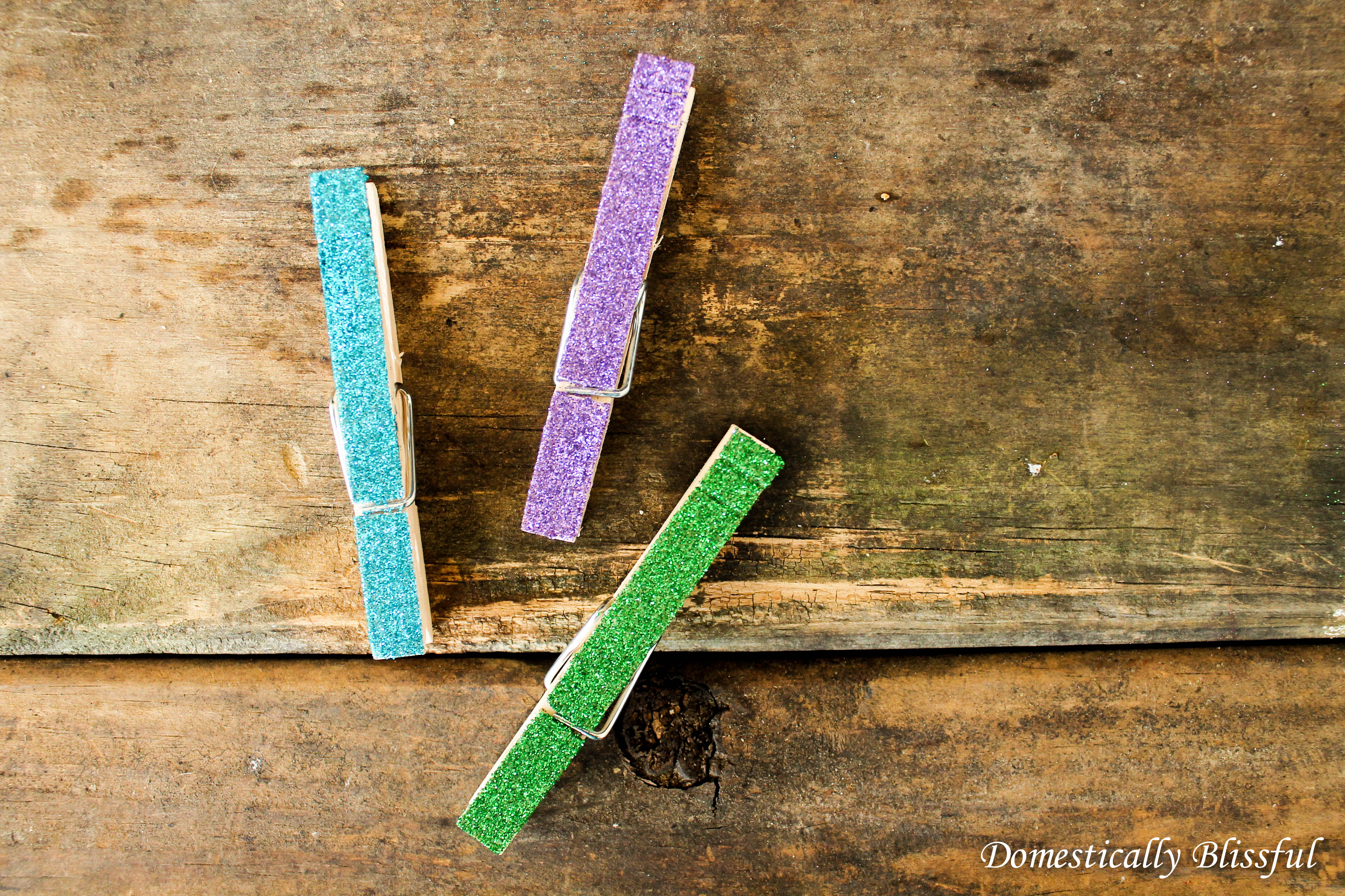 Glittery Decorative Clothespins